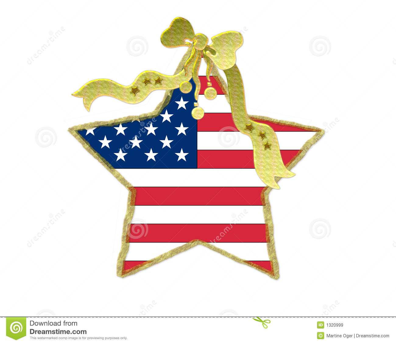Patriotic Christmas Decoration Royalty Free Stock Images - Image ...