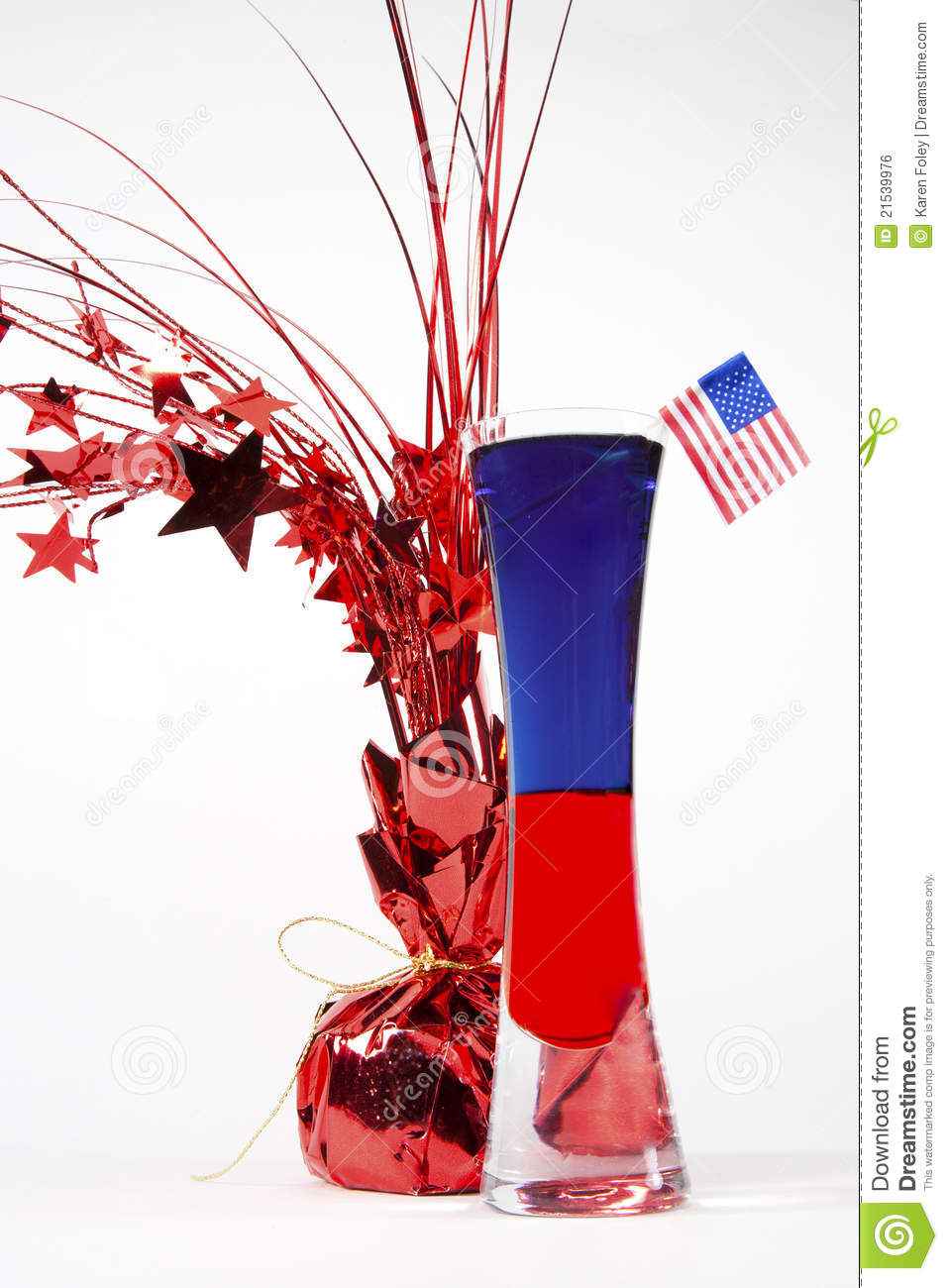 Patriotic Cocktail stock photo. Image of alcoholic, shot ...