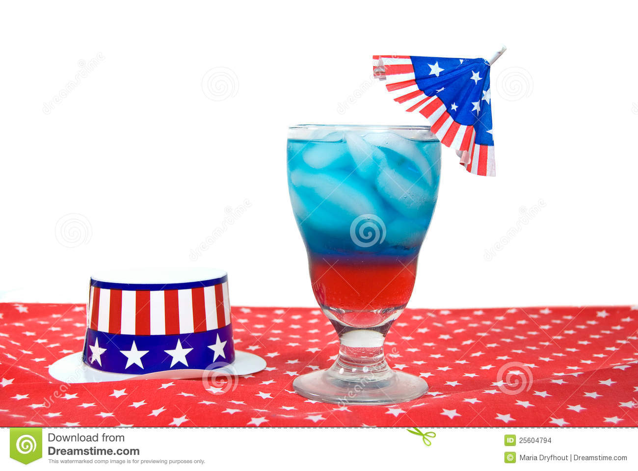 Patriotic Drink With Hat Stock Images - Image: 25604794