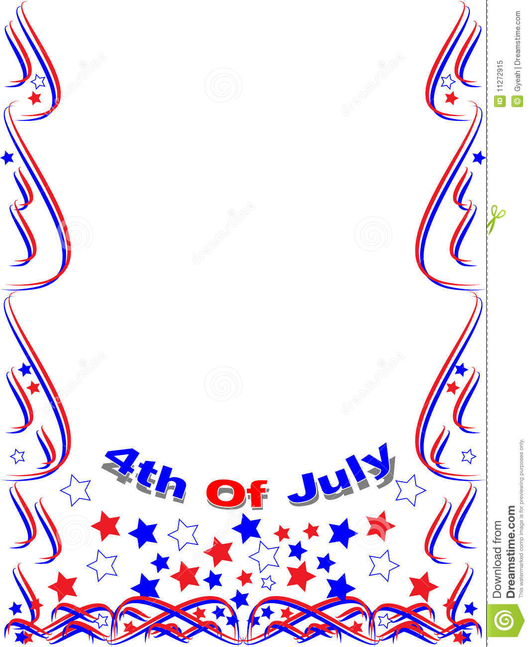Patriotic Frame Border 4th July Stock Vector - Illustration of ...