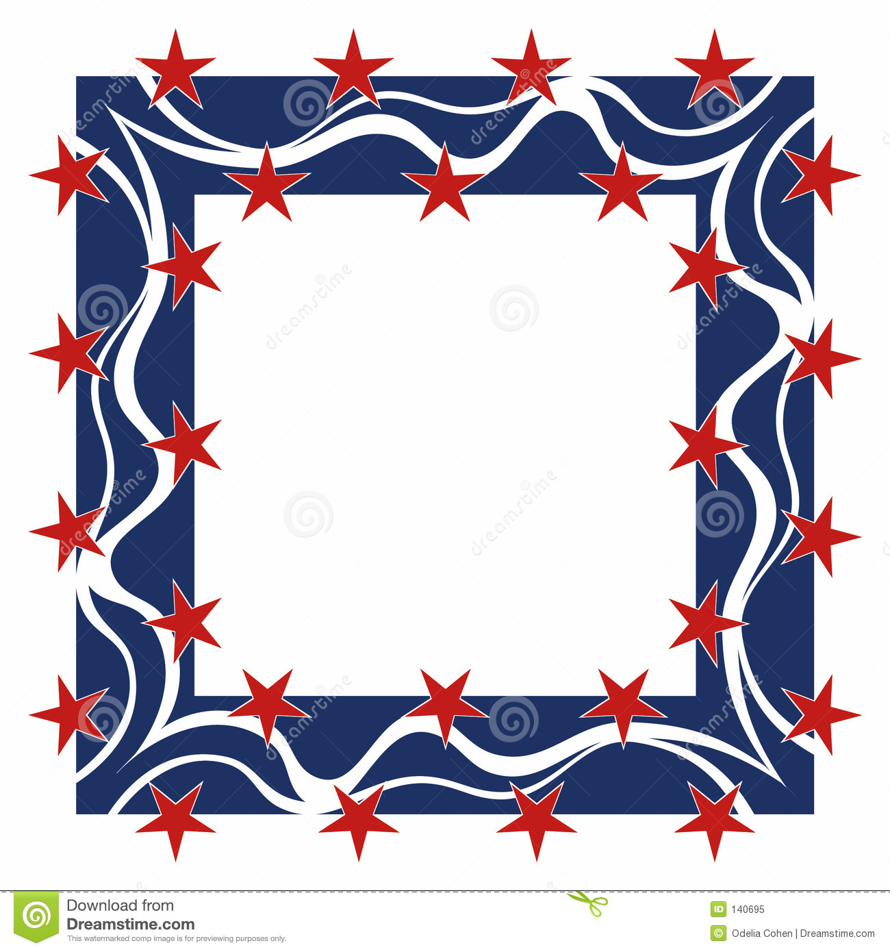 Patriotic Frame Royalty Free Stock Photography - Image: 141527