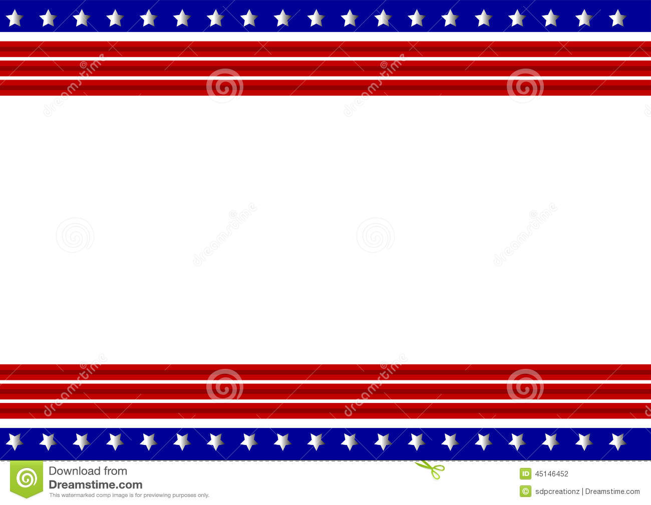 Blue and red patriotic stars and stripes page border frame design - Patriotic Frame Stock Vector Image 45146452