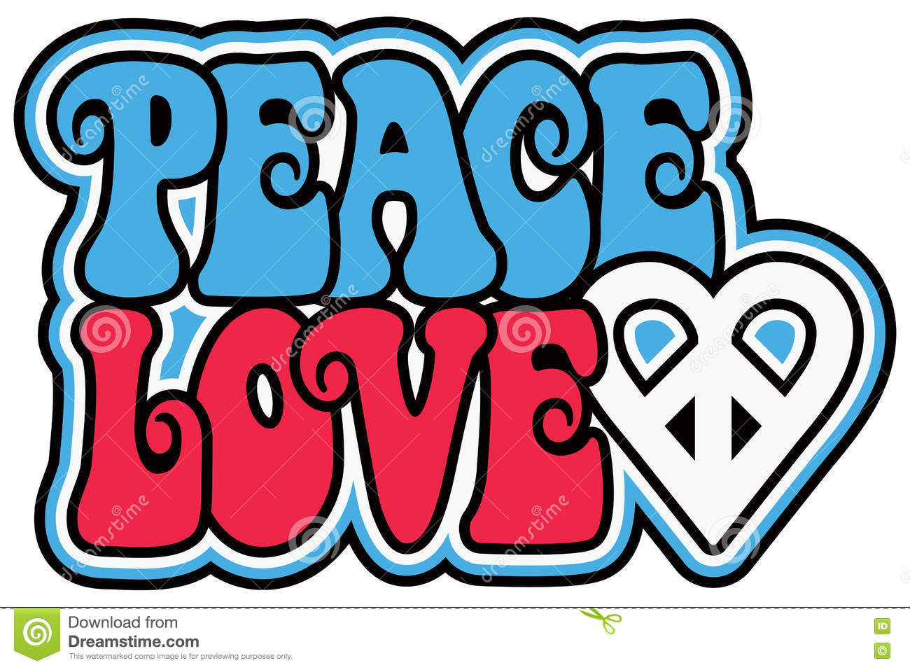 Patriotic Peace Love Stock Vector Illustration Of Blue 70944739