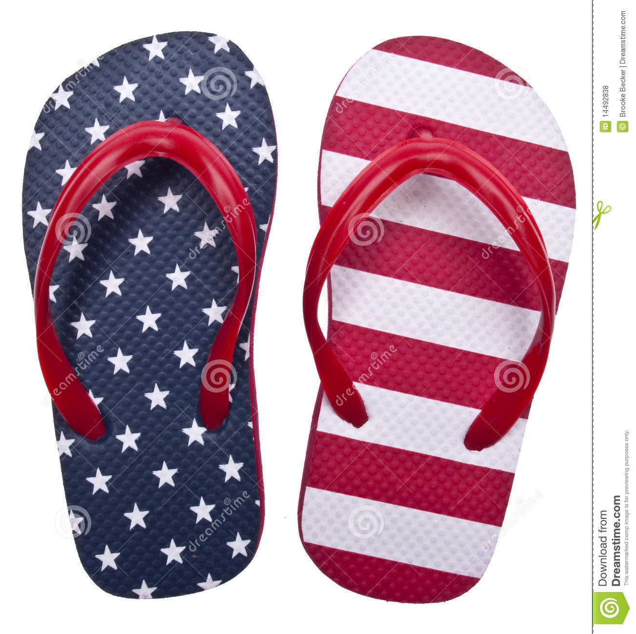 Patriotic Red White And Blue Flip Flop Sandals Ready For The 4th Of