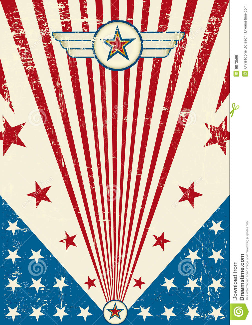 Free Scratch Cards >> Patriotic Scratch Poster Royalty Free Stock Image - Image: 9873596