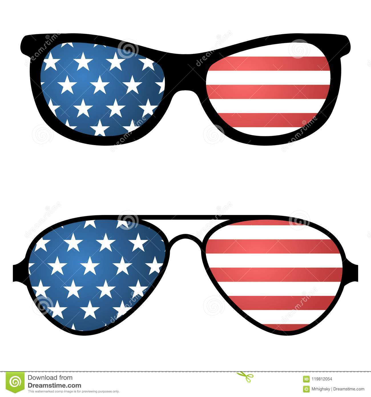 95a3be8b2f8 Patriotic sunglasses with american flag stock vector illustration jpg  1300x1390 American flag sunglasses