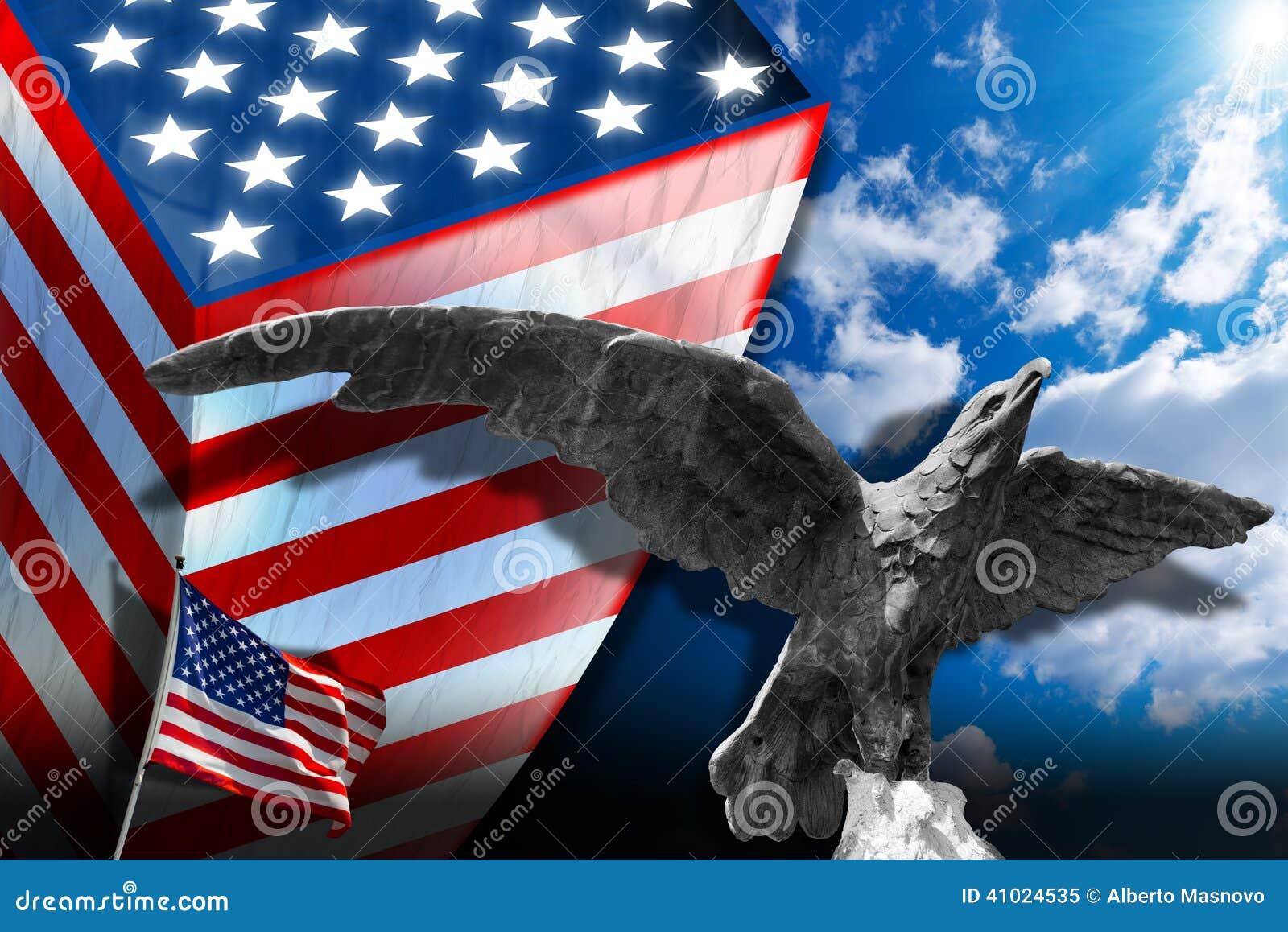 Patriotic Symbols Of The Usa Stock Illustration Illustration Of