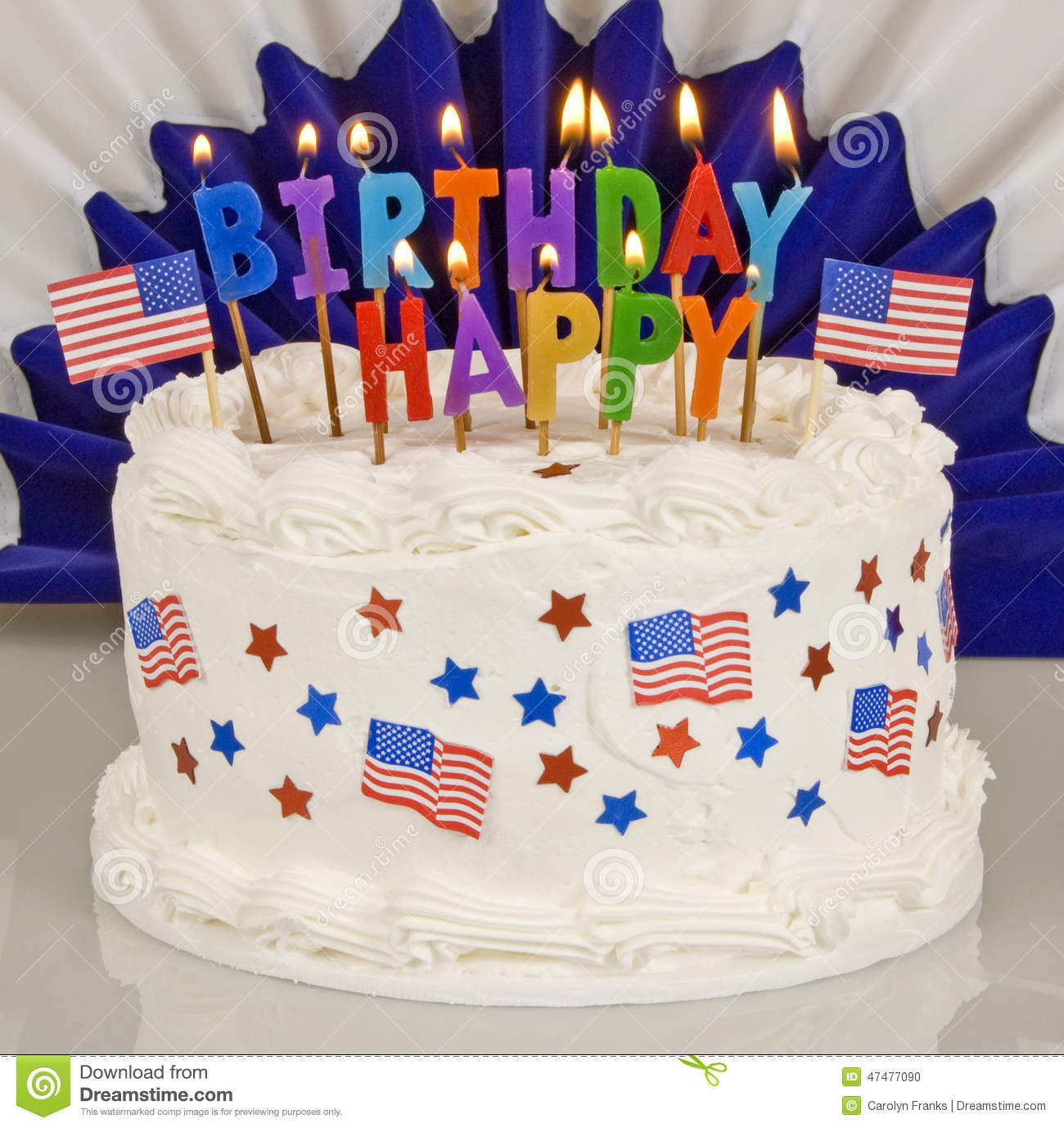 Patriotic 4th Of July Birthday Cake Stock Photo Image Of Holiday