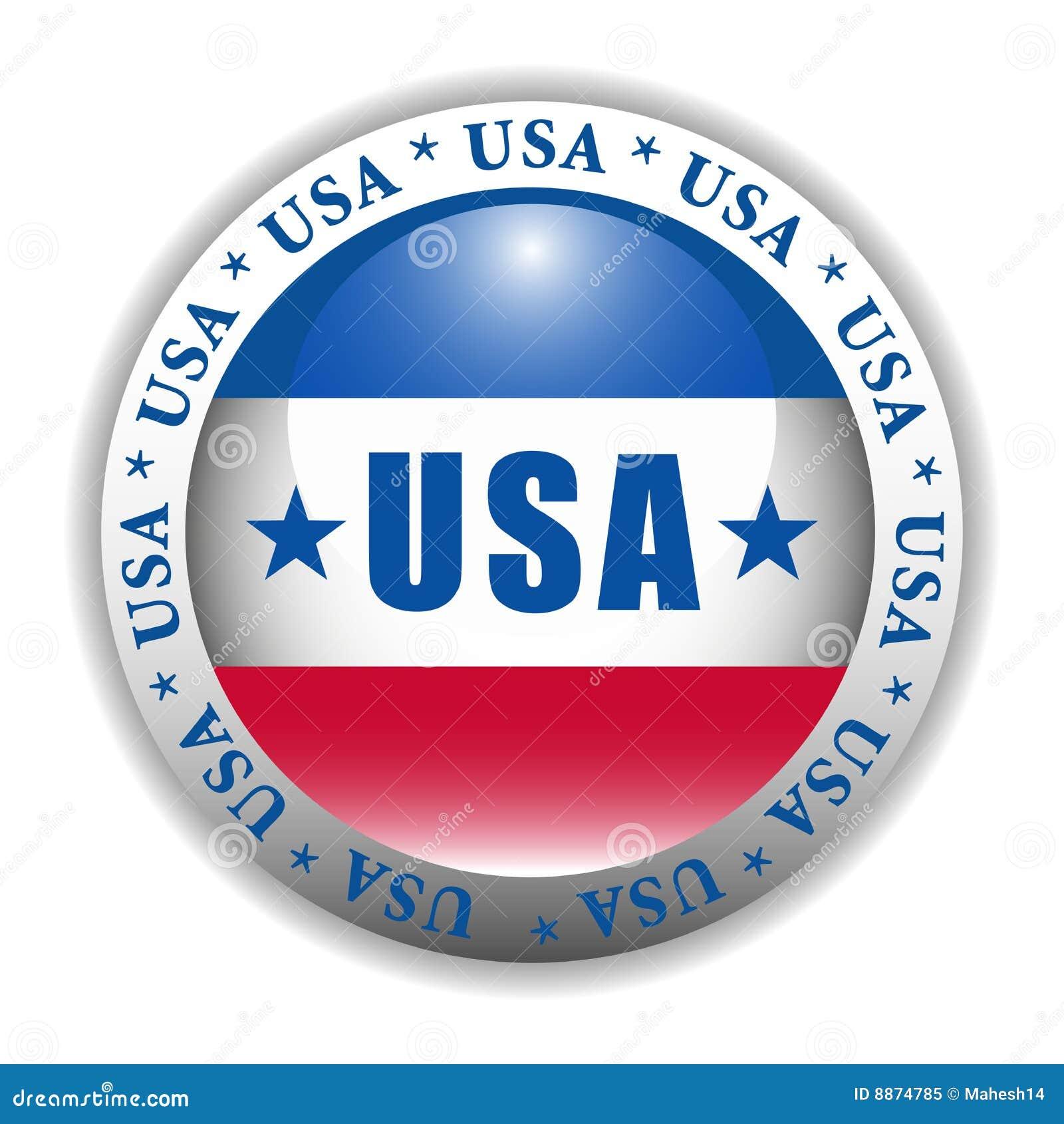 Patriotic USA Button