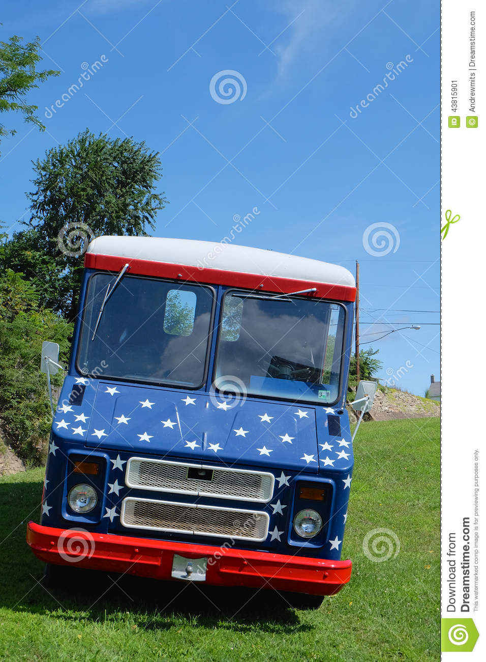 c1ada7e94 Patriotic Van stock image. Image of custom
