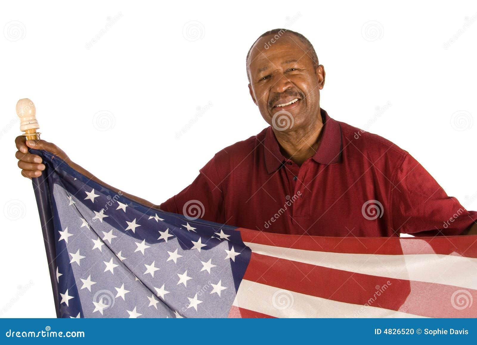 Patriotischer Afroamerikanermann