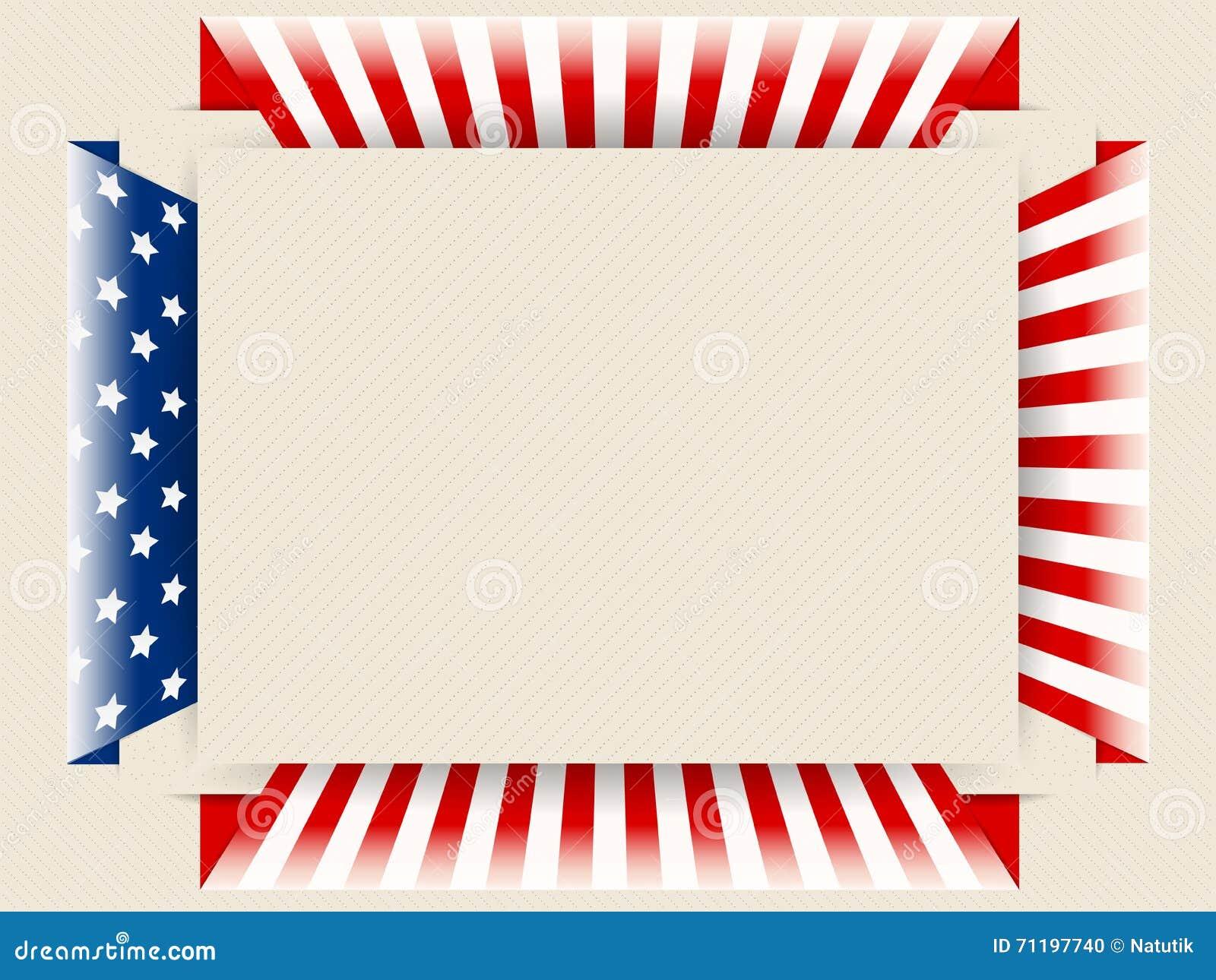 Patriotischer Hintergrund US Vektor Abbildung - Illustration von ...