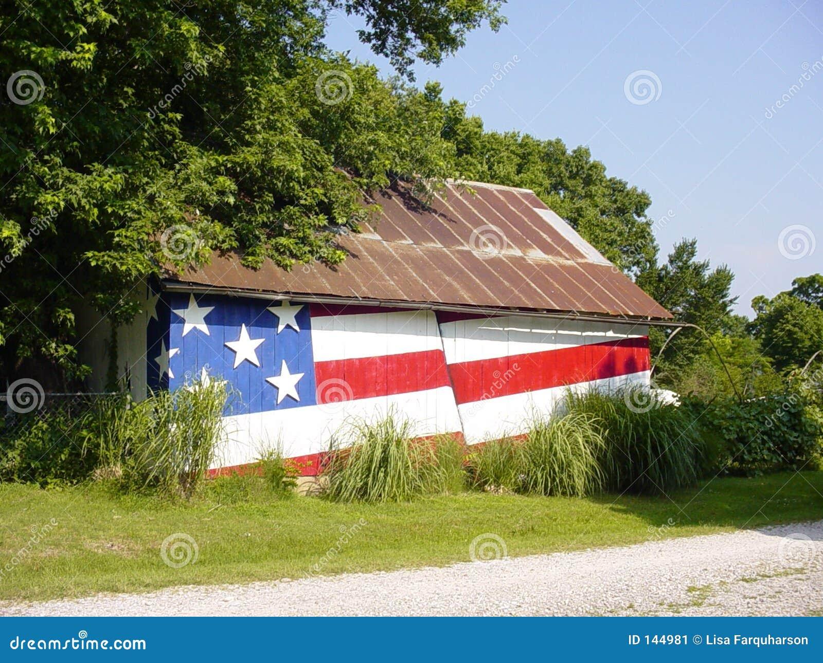Patriotischer Stall