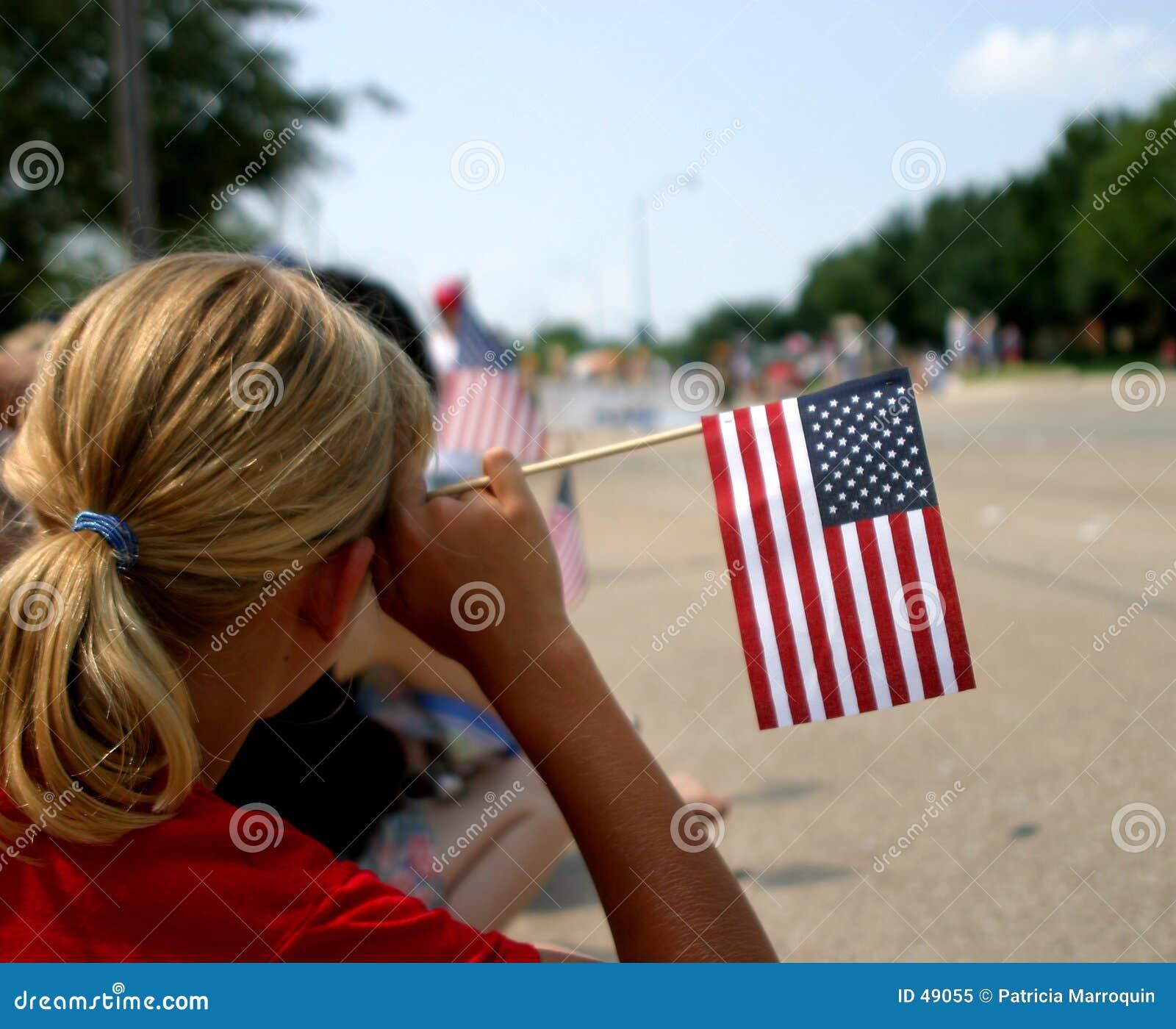 Patriotisches Mädchen