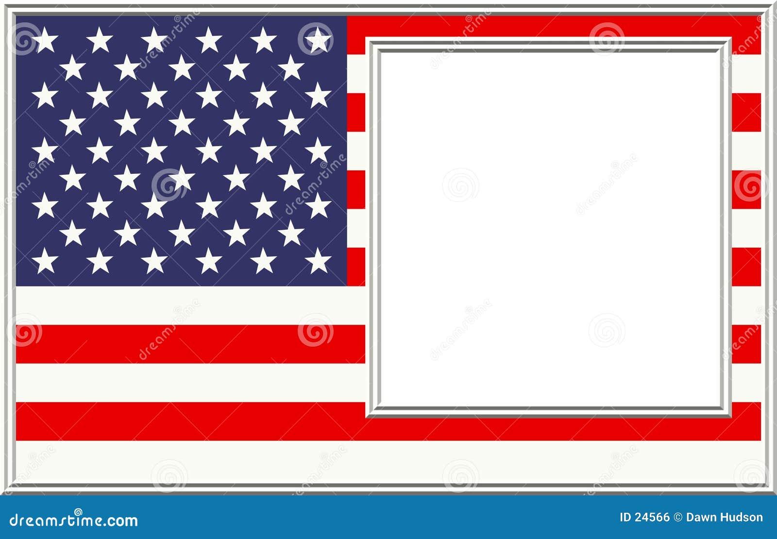 Patriotisk bild för ram