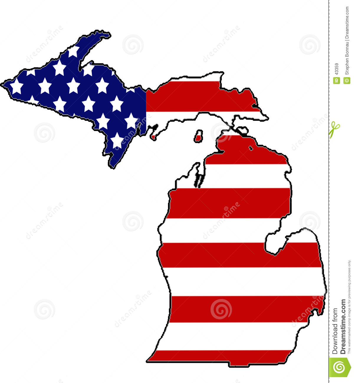Download Patriottisch Michigan stock illustratie. Illustratie bestaande uit michigan - 43359