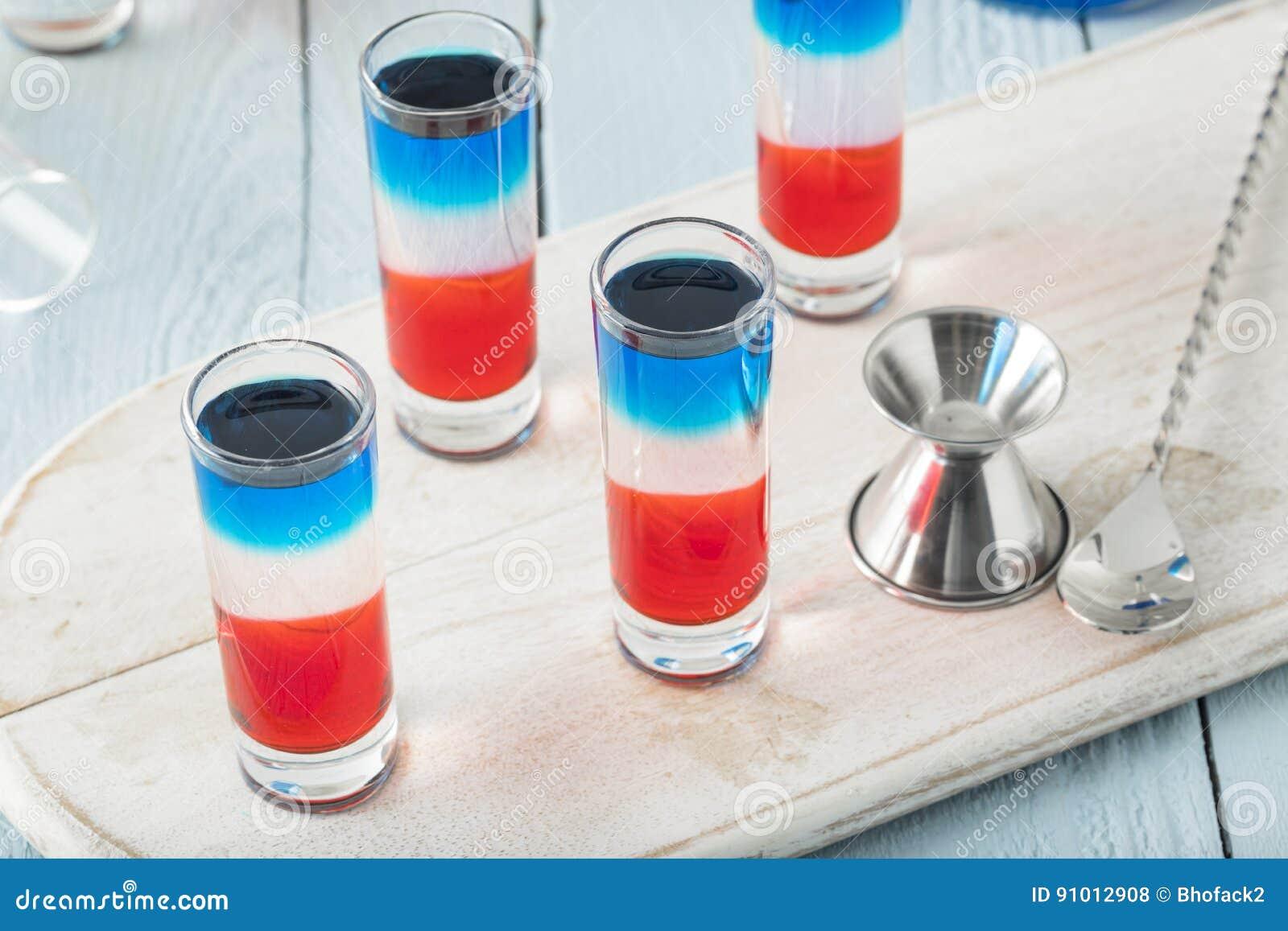 Patriottische Rode Witte en Blauwe Schoten