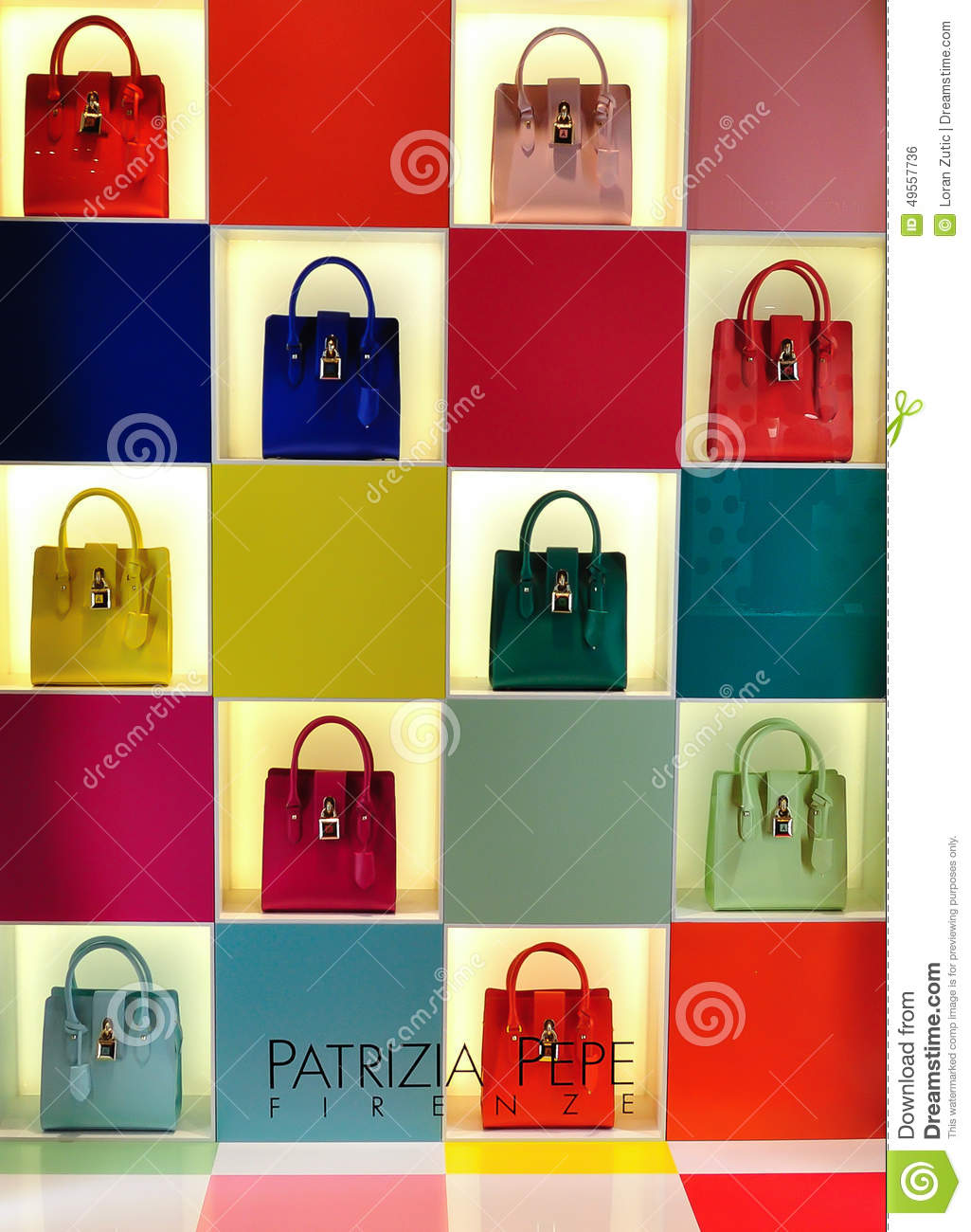 Patrizia Pepe Women Bags Shop Window Editorial Photo - Image: 49557736