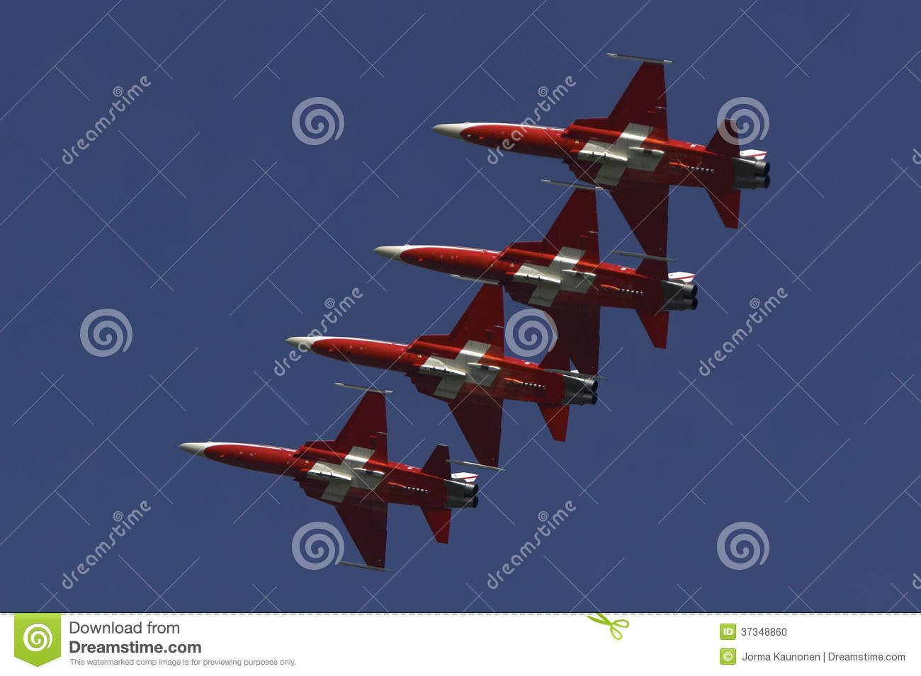 Patroille Suisse in formation