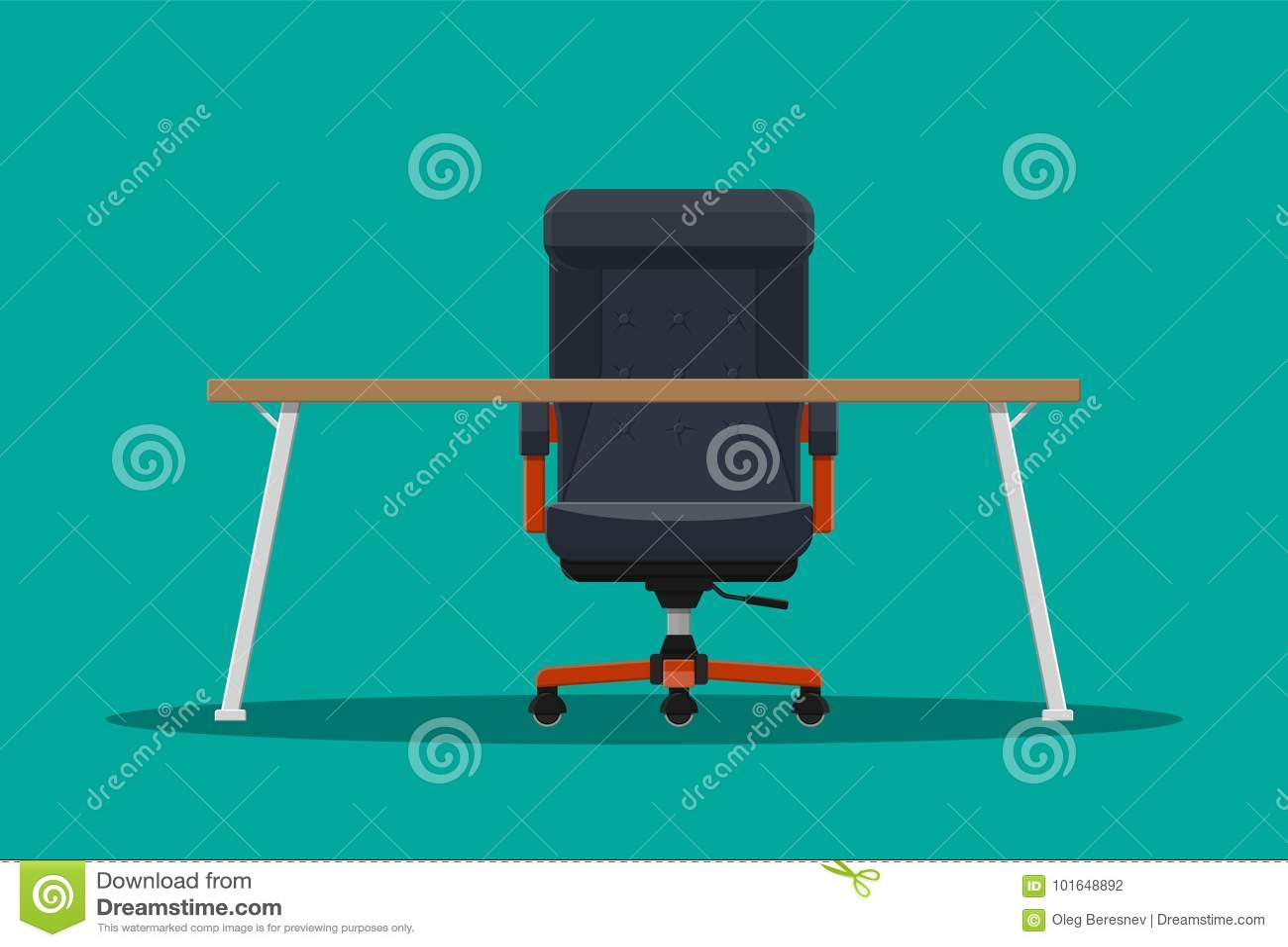 Ou Patron Chaise Président Bureau De Et Illustration Vecteur WDHE92IY