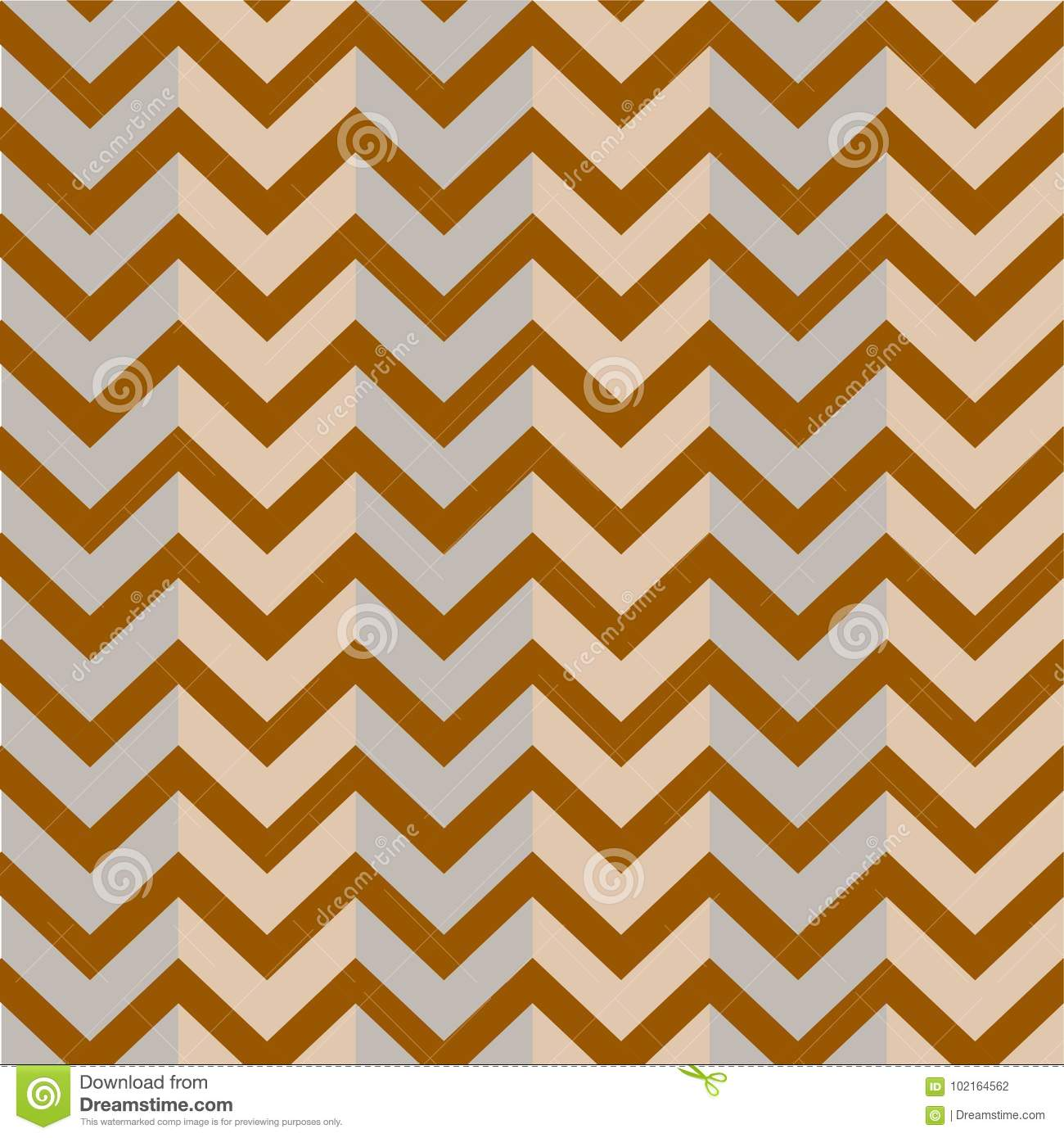 Patroon Bruin Grey Background Zigzag