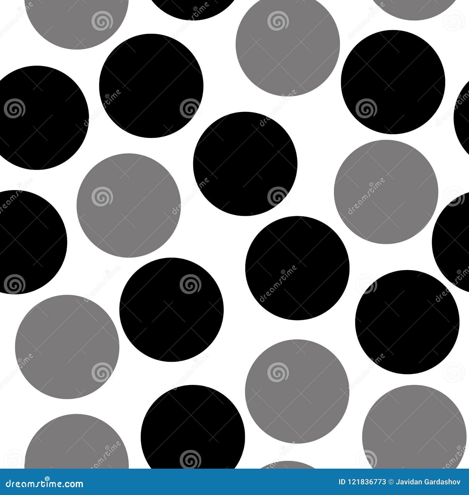Patroon met cirkels, gestippelde achtergrond Foutloos herhalend