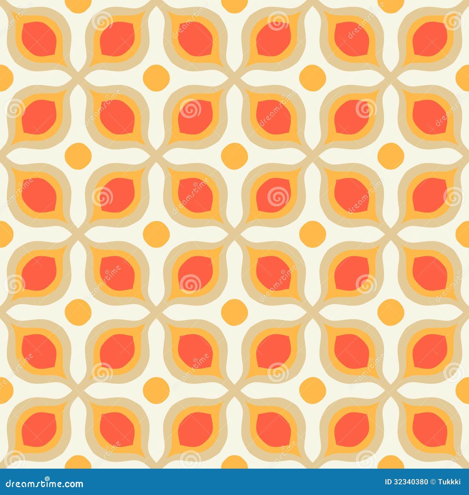 Patroon met gewaagde geometrische vormen in jaren 39 70stijl stock foto beeld 32340380 - Behang van de jaren ...