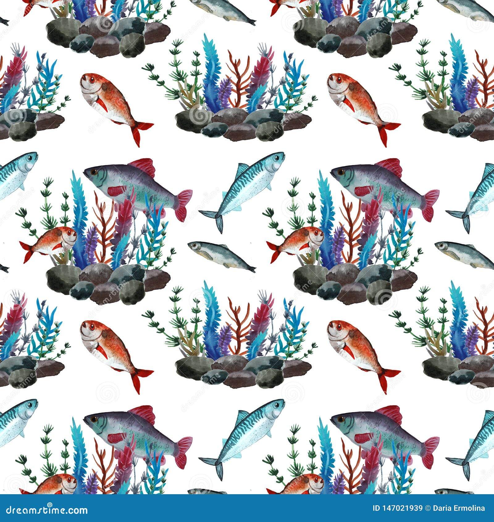 Patroon met vissen