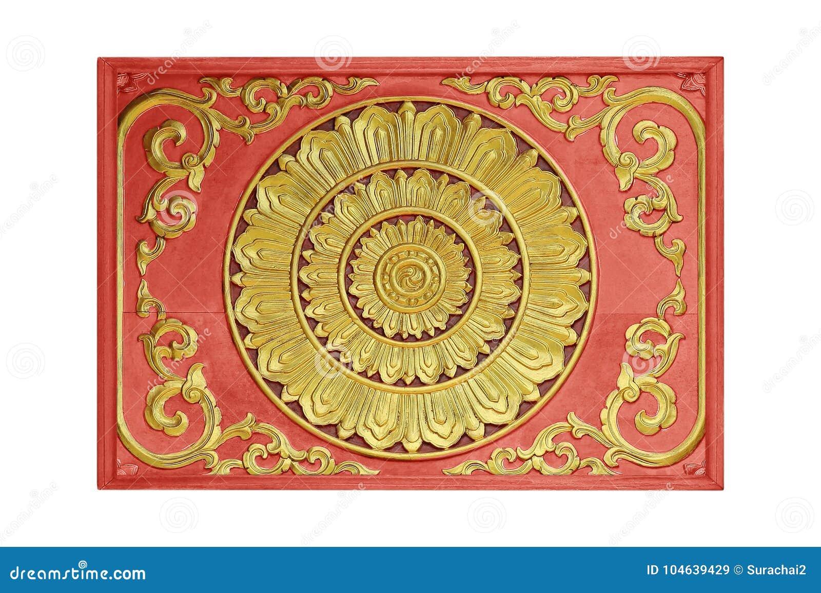 Download Patroon Van Bloem Op Hout Voor Decoratie Wordt Gesneden Die Stock Afbeelding - Afbeelding bestaande uit achtergrond, houten: 104639429