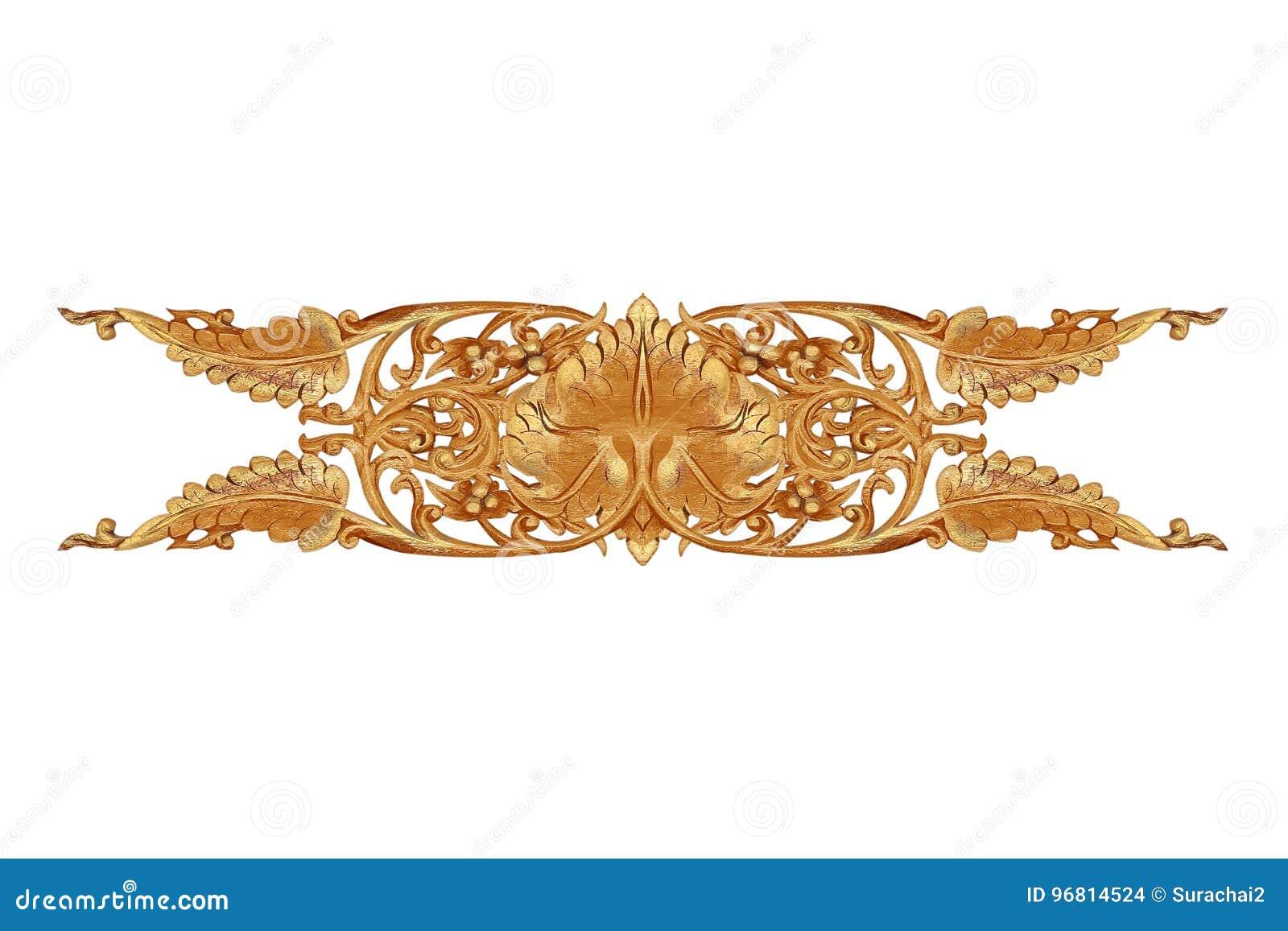 Patroon van bloem op hout voor decoratie wordt gesneden die