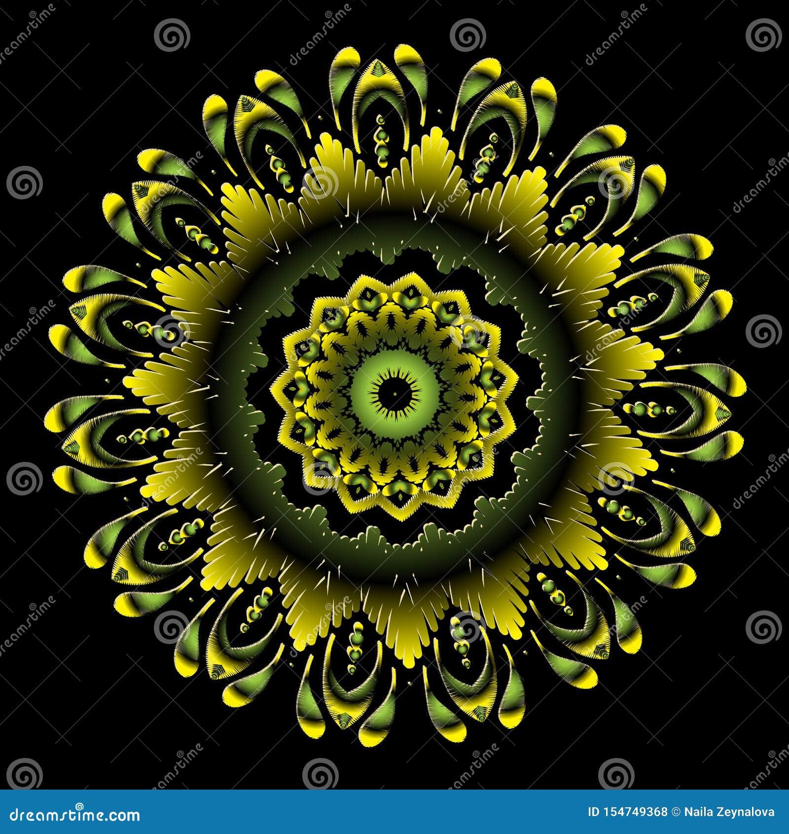 Patroon van borduurwerk het kleurrijke bloemenmandala Vector sier grungy achtergrond Geweven bloemen etnisch rond ornament met