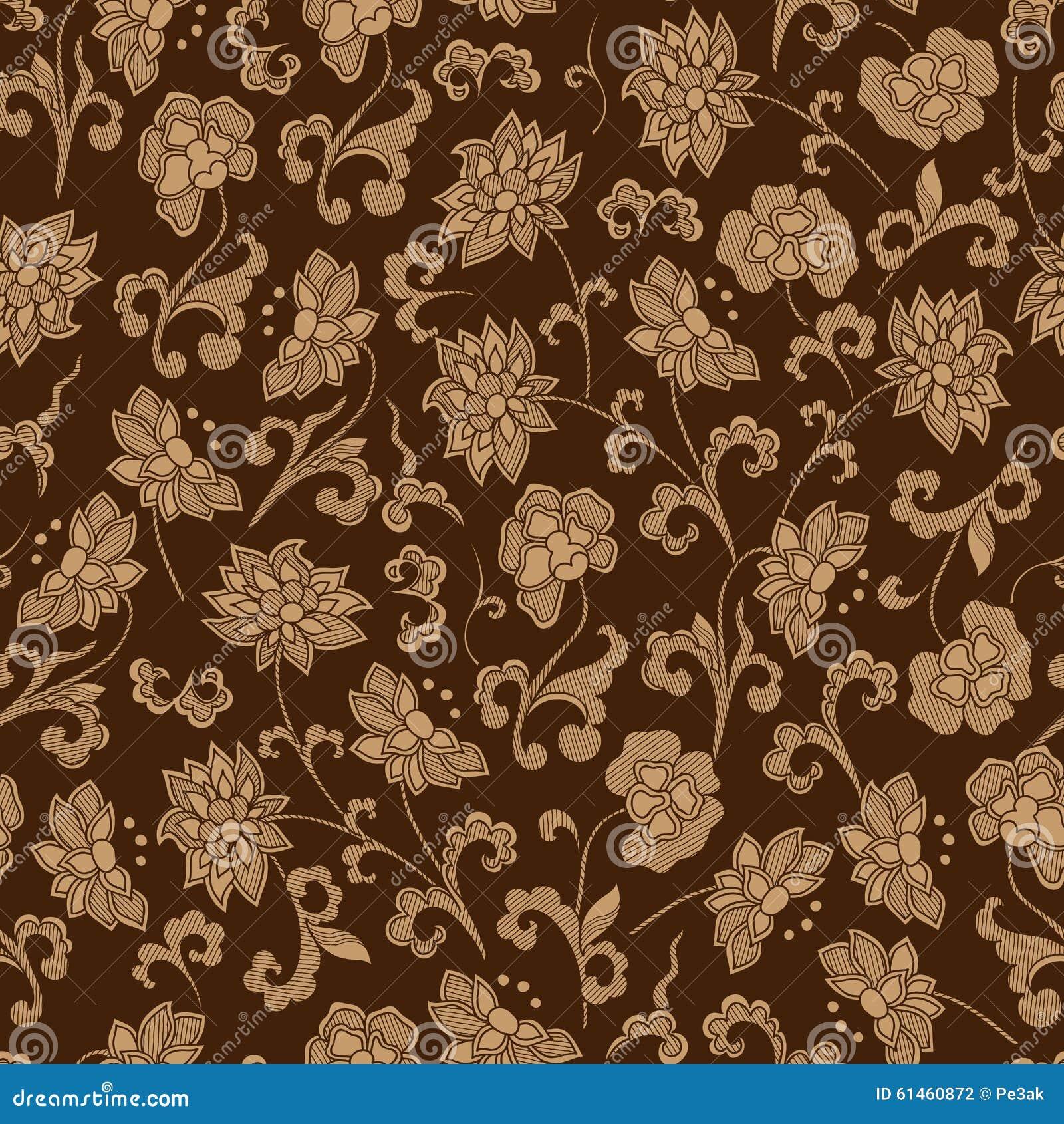 Patroon van de behang het naadloze uitstekende bloem vector illustratie afbeelding 61460872 - Behang van de jaren ...