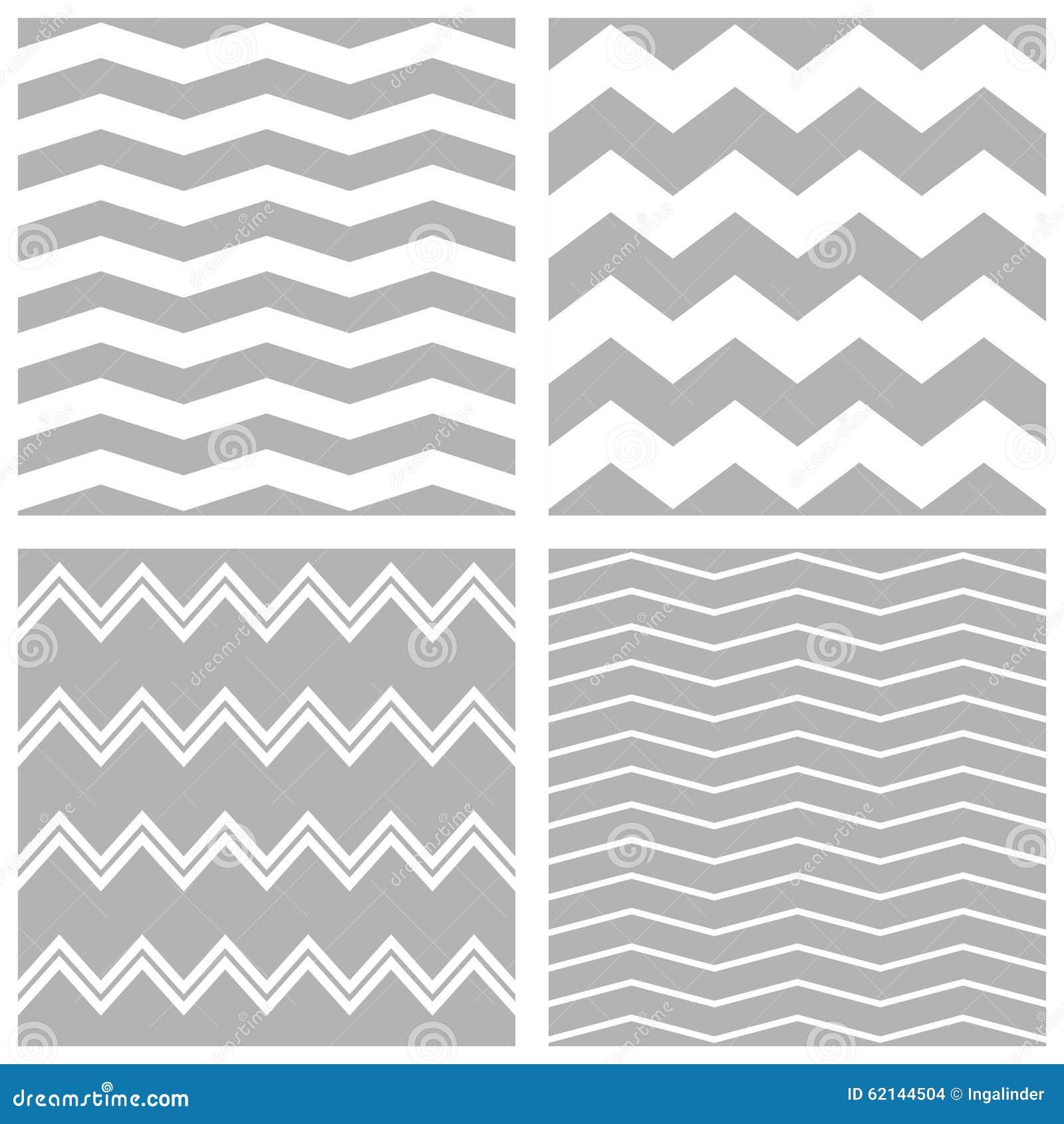 Patroon van de tegel het vectordiechevron met witte en grijze zigzagachtergrond wordt geplaatst