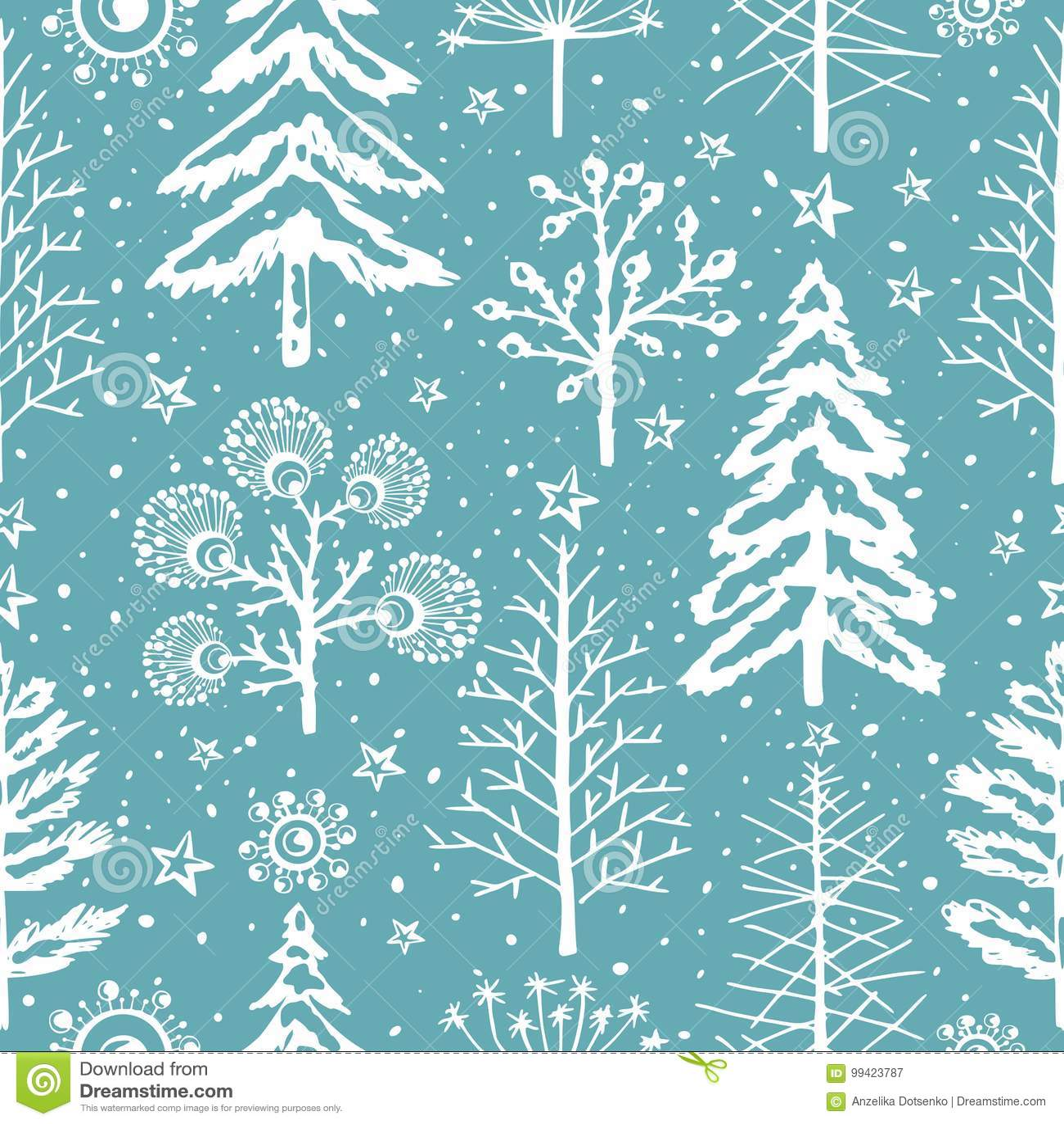 Patroon van de winter het naadloze Kerstmis voor ontwerp verpakkend document, prentbriefkaar, textiel