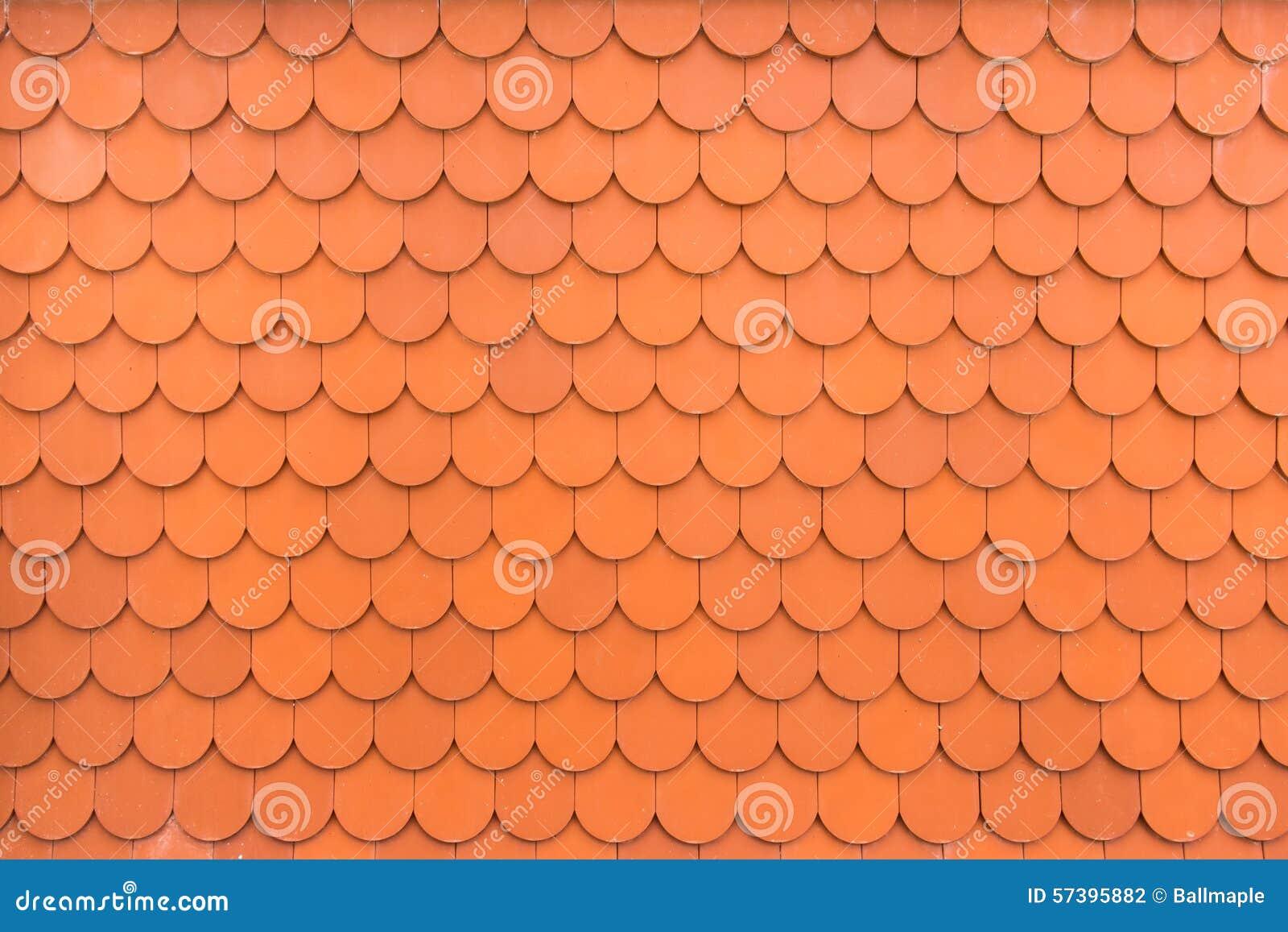 Patroon van oranje daktegels