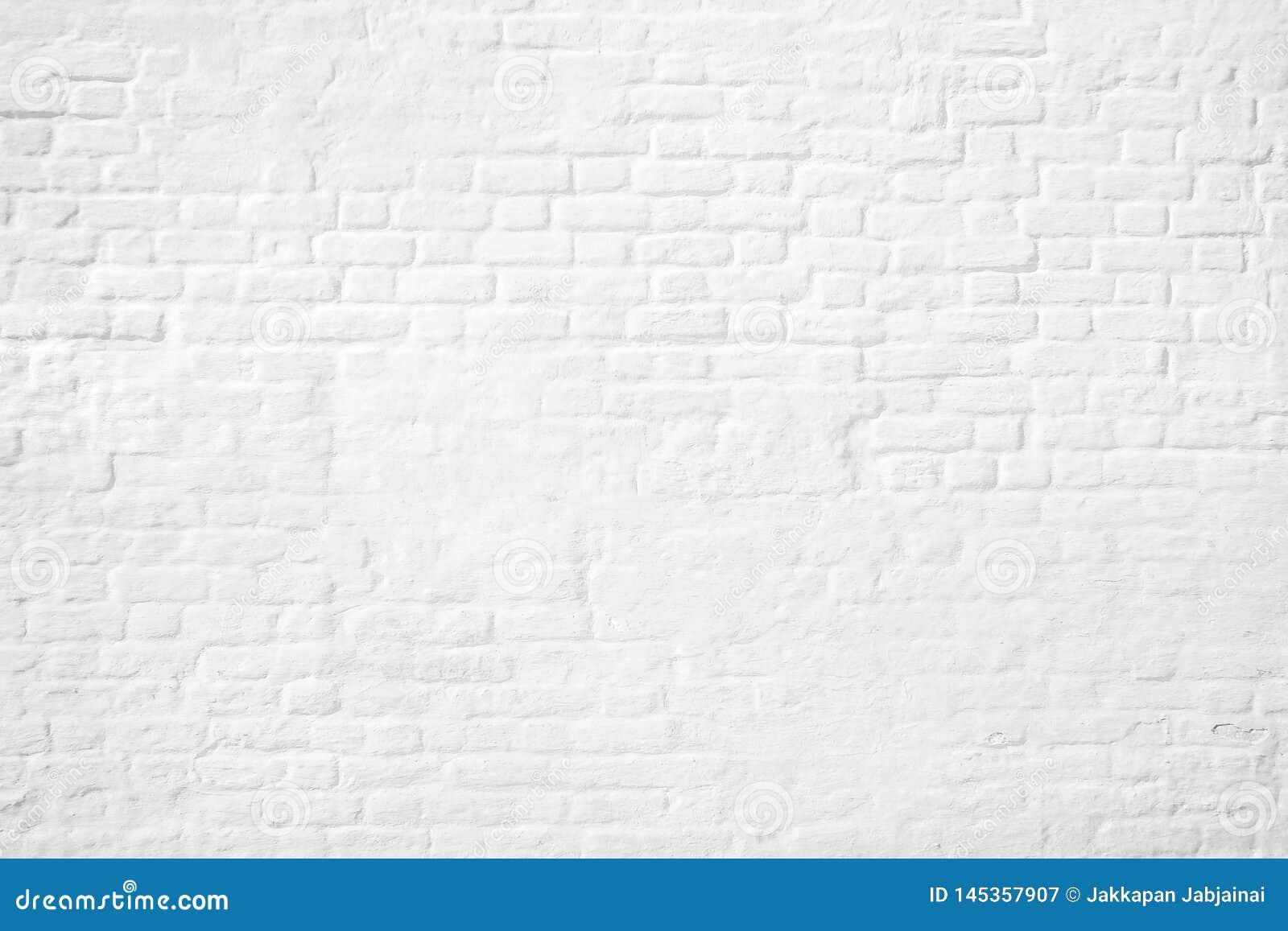 Patroon van witte bakstenen muurachtergrond