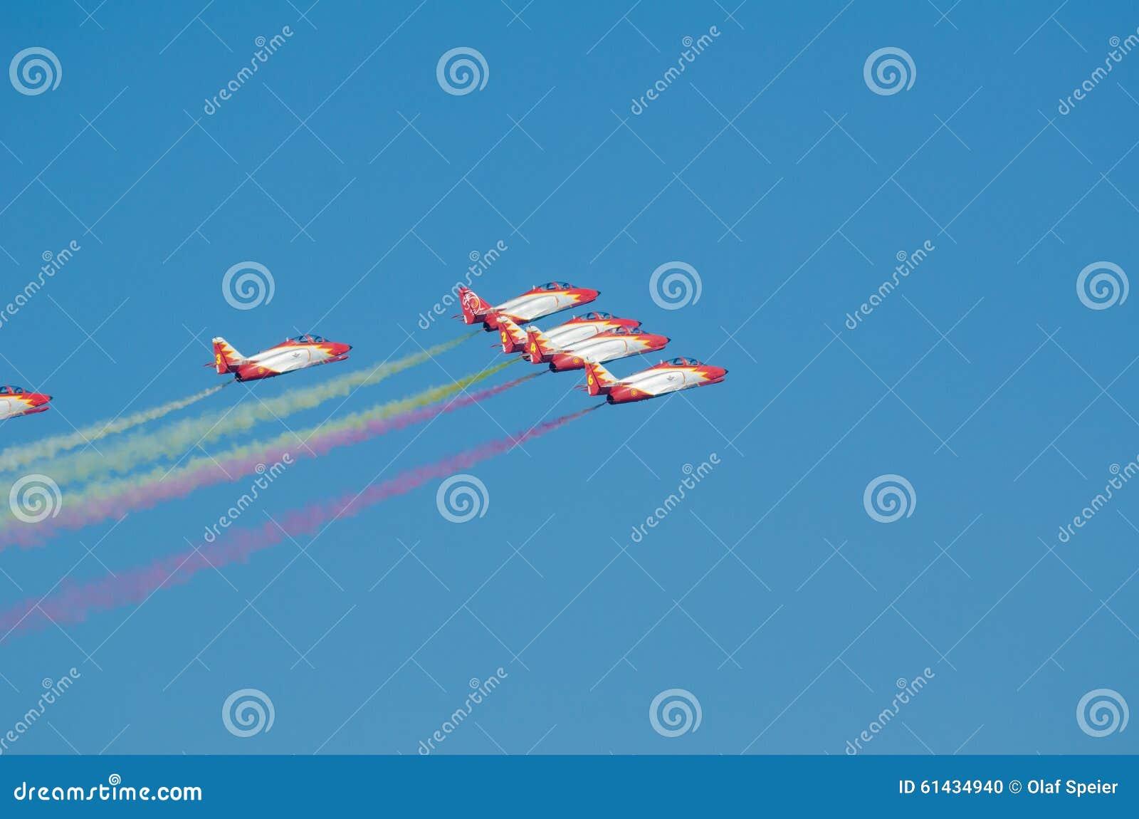 Javier Spain  city pictures gallery : SAN JAVIER, SPAIN, OCTOBER18, 2015: Spanish military acrobatic ...