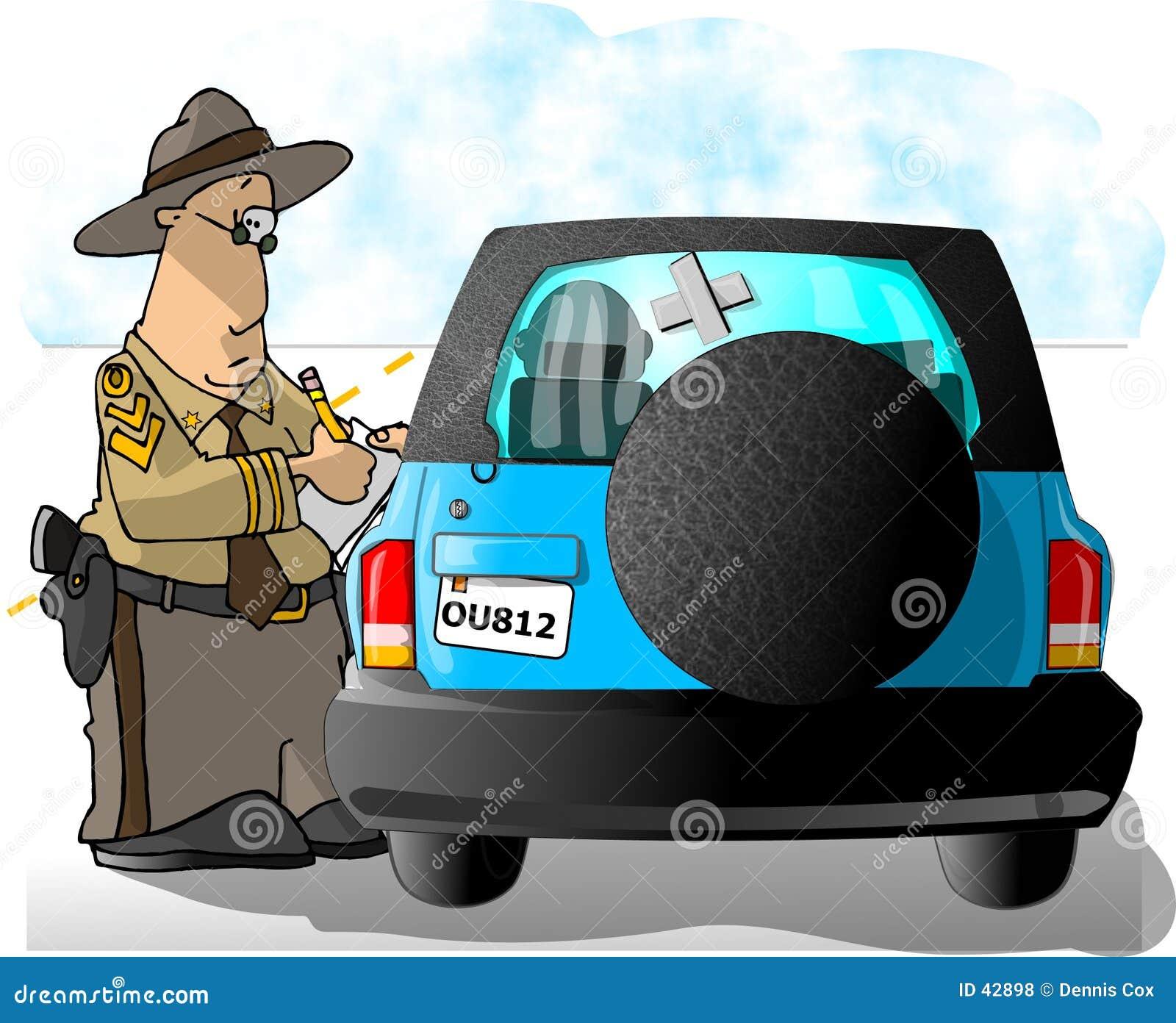 Download Patrulla De La Carretera Que Escribe Un Boleto Stock de ilustración - Ilustración de diversión, coche: 42898