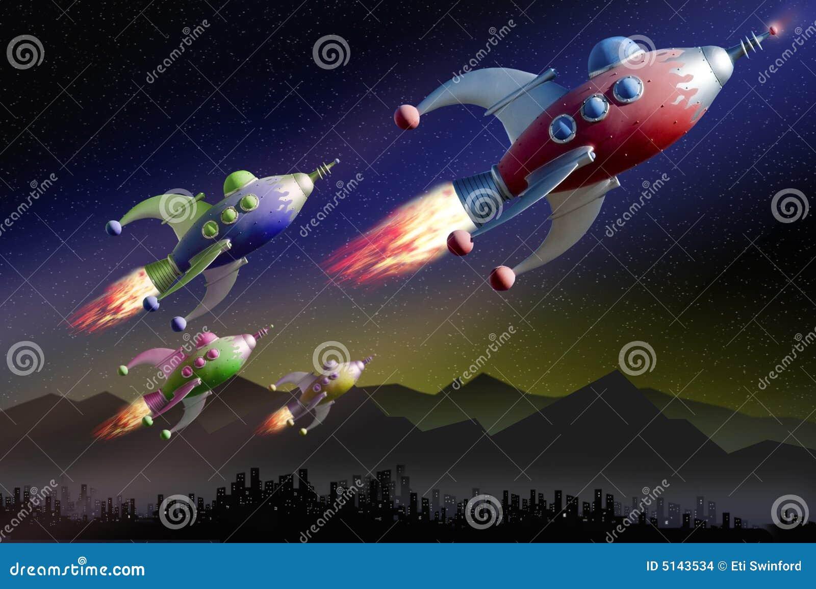 Patrulla del espacio de la exploración