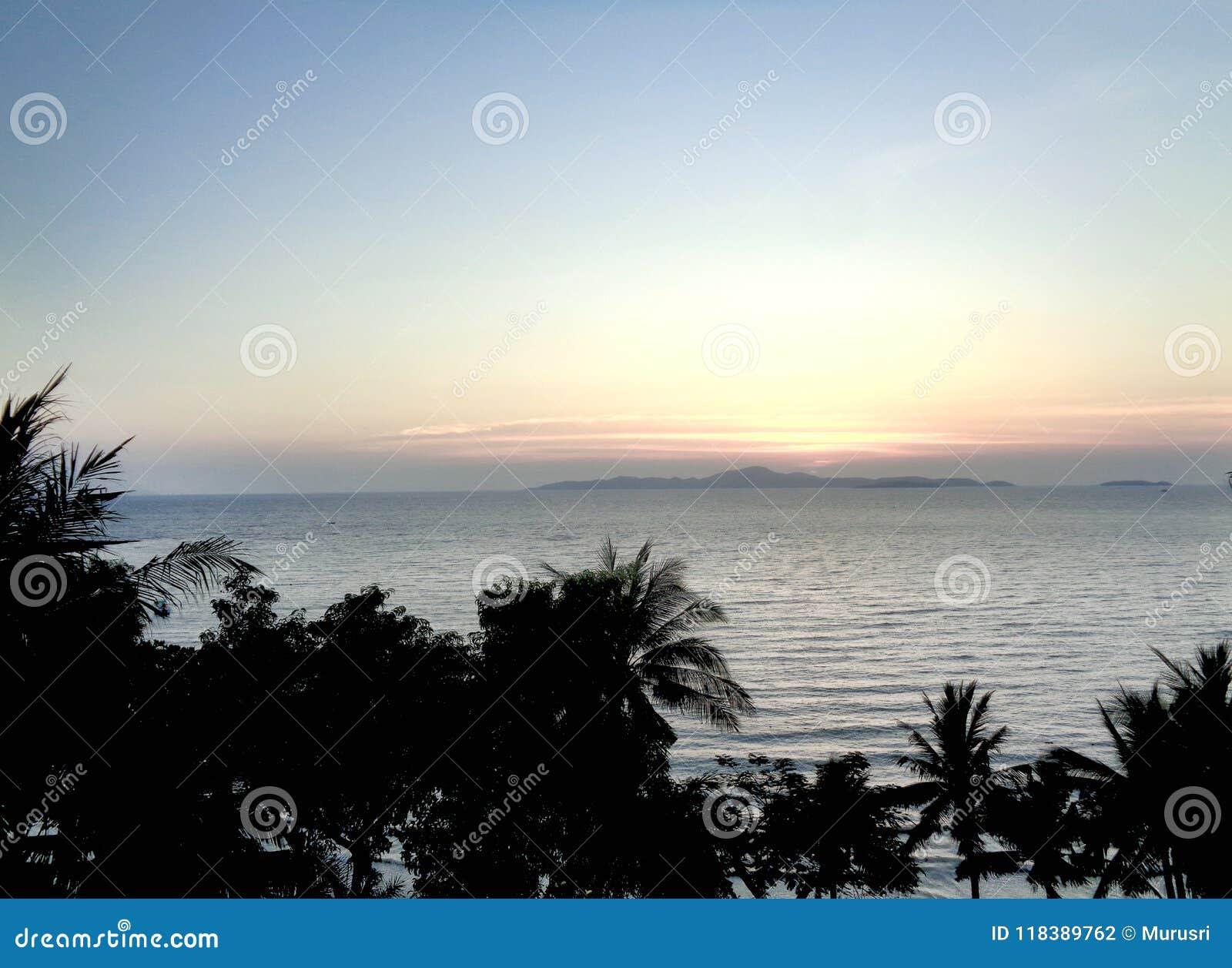 Pattaya Beach Sunset Thailand Stock Photo Image Of
