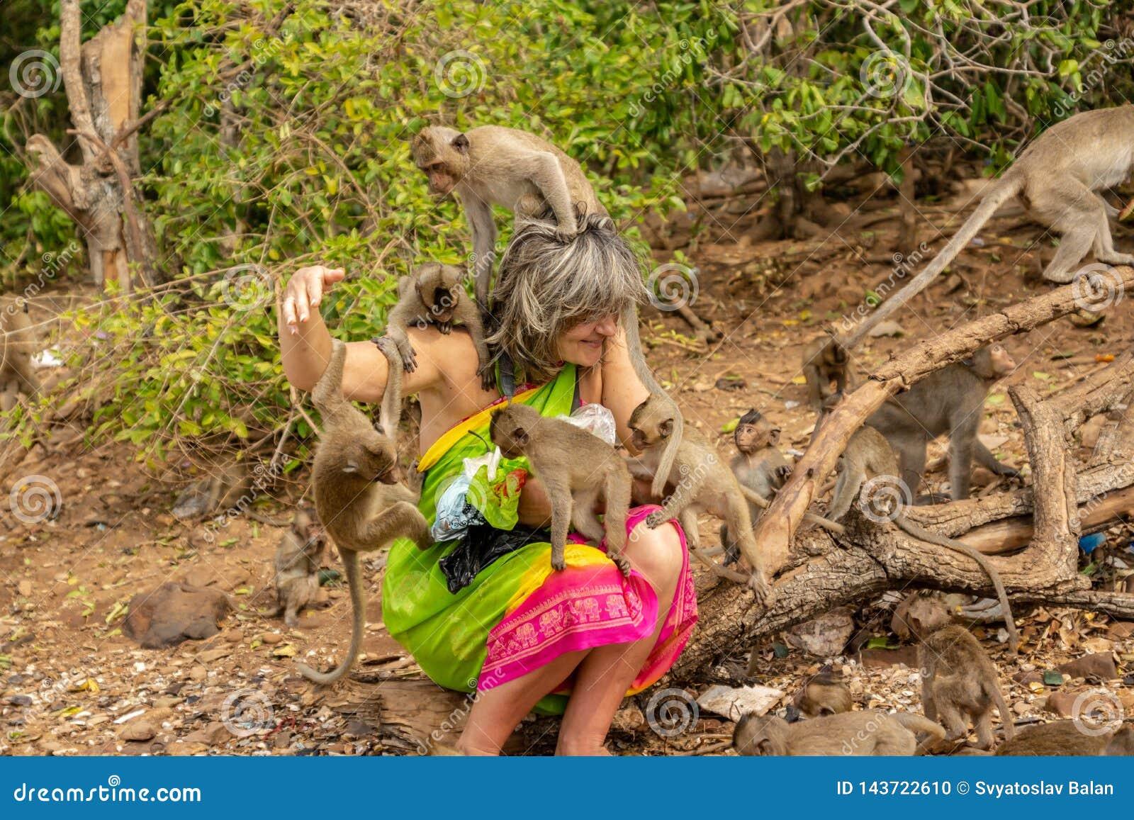 Pattaya, Thailand - 1. Januar 2014: Monkey Island nahe Pattaya