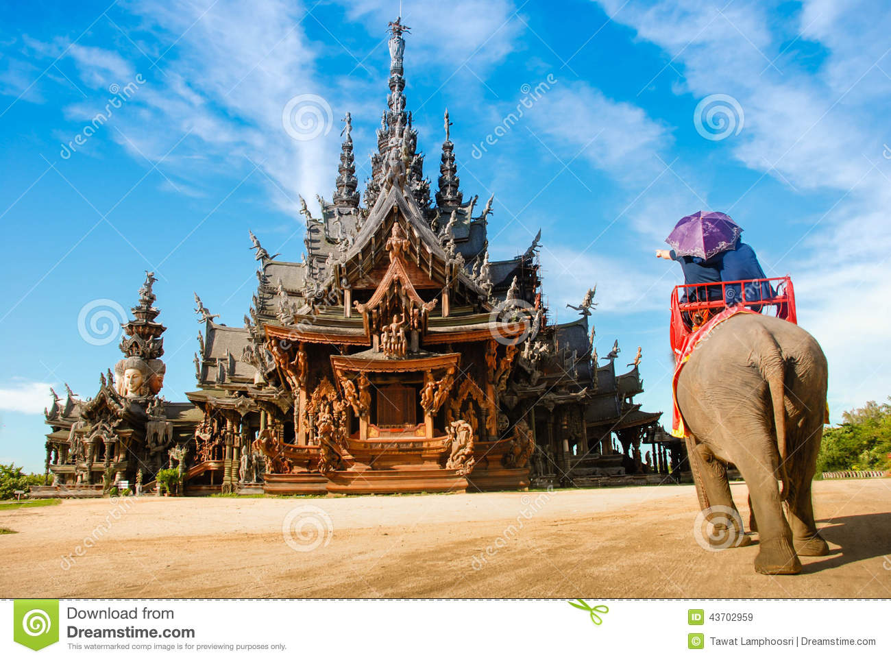 Pattaya, Thailand: Thai Temple Elephant Rides