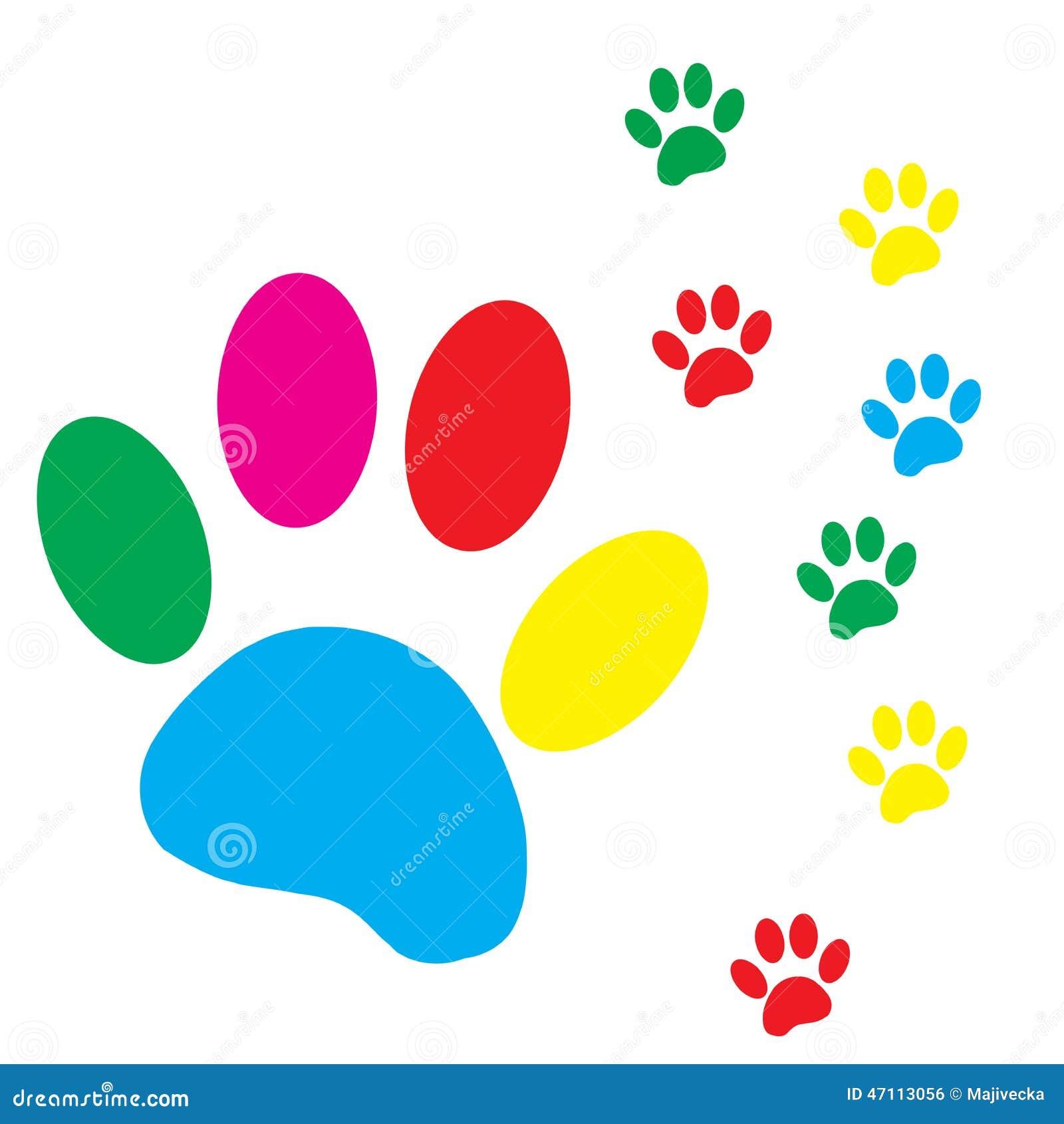 Patte de chien de silhouette de vecteur illustration de - Image patte de chien gratuite ...