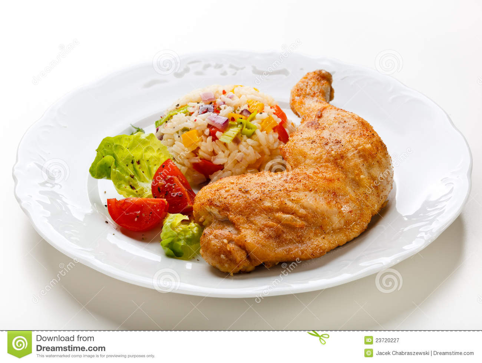 Patte de poulet rôti