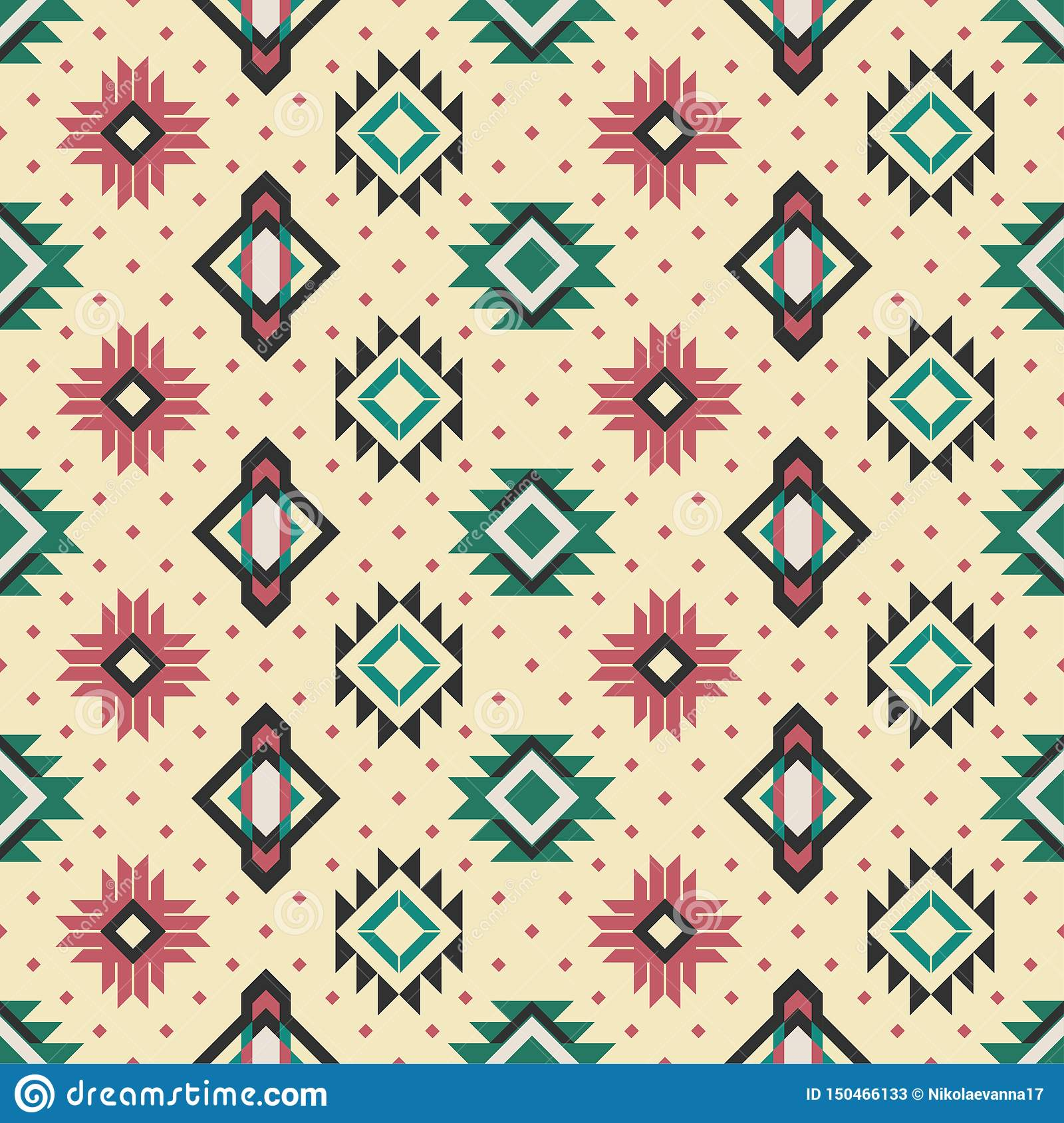 Seamless background. National pattern. Folk