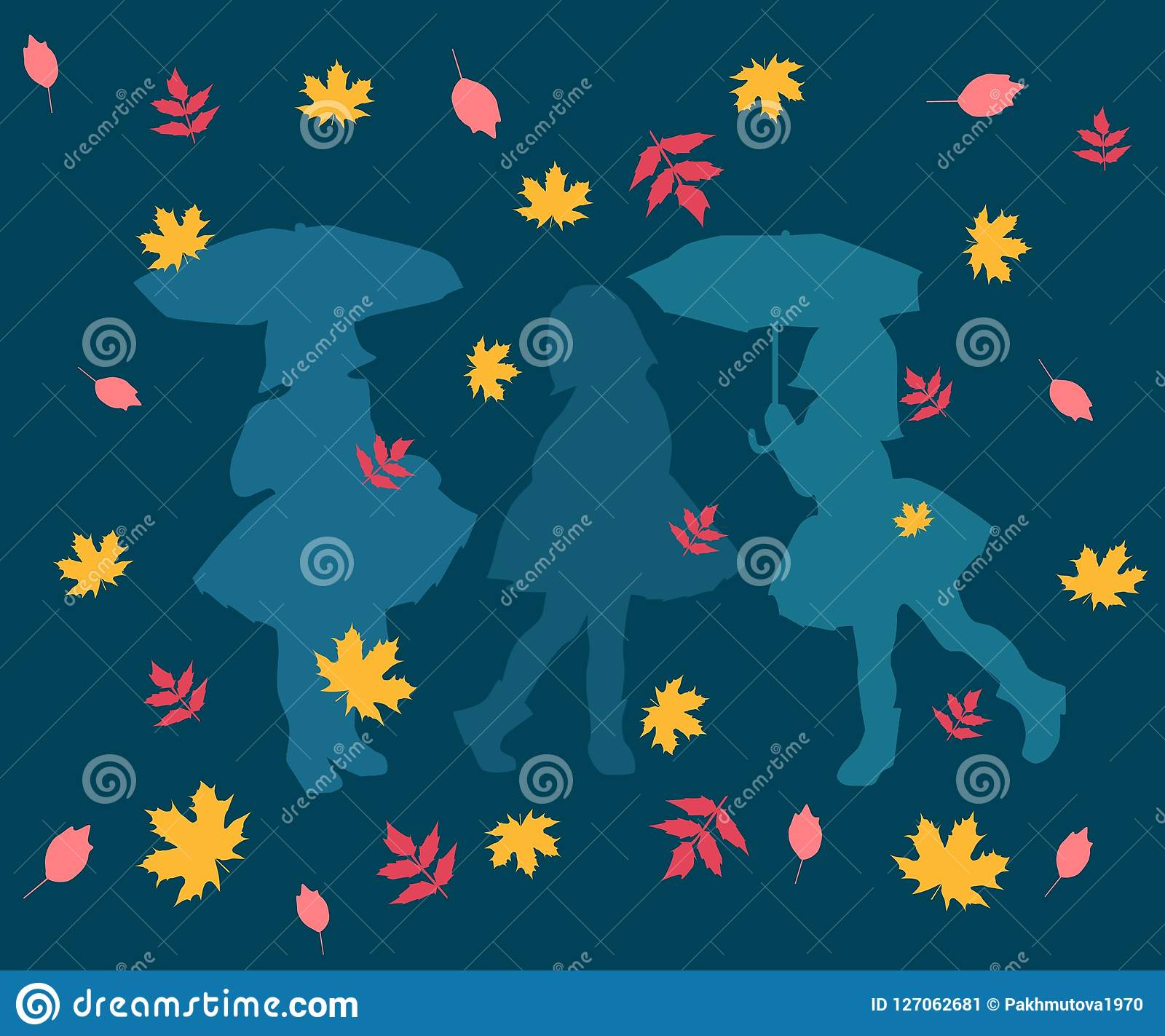 Pattern, abstract, illustration, design, art, autumn, wallpaper, colorful, leaf, flower, seamless, decoration, flowers, blue, yell