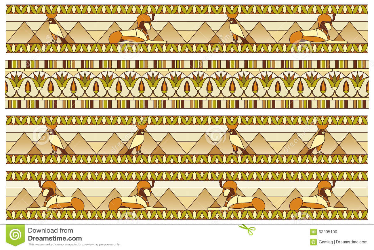 Pattern with ancient egyptian symbols stock illustration pattern with ancient egyptian symbols biocorpaavc