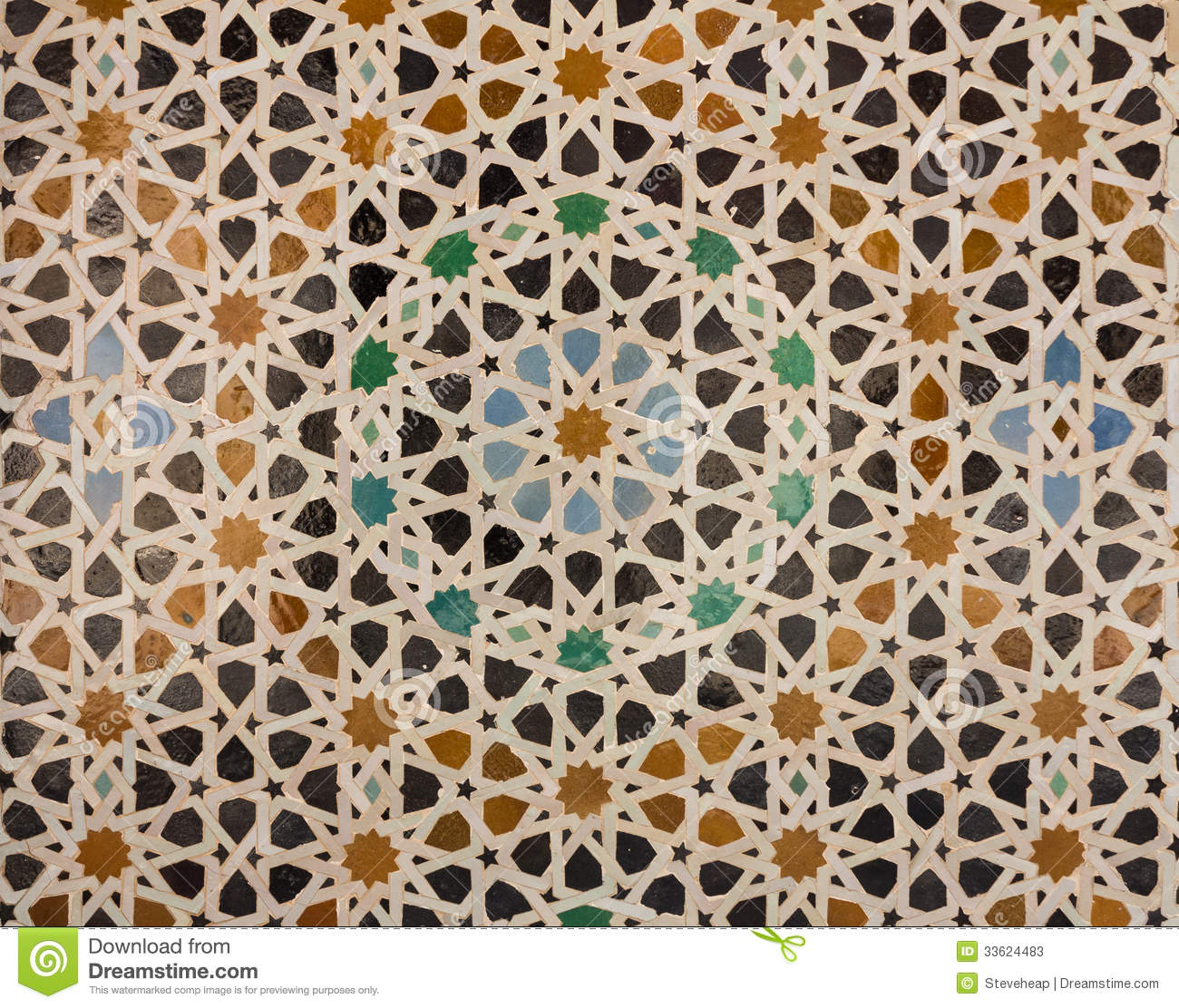 Pattern Of Arabic Tiling Or Mosaic Stock Image Image