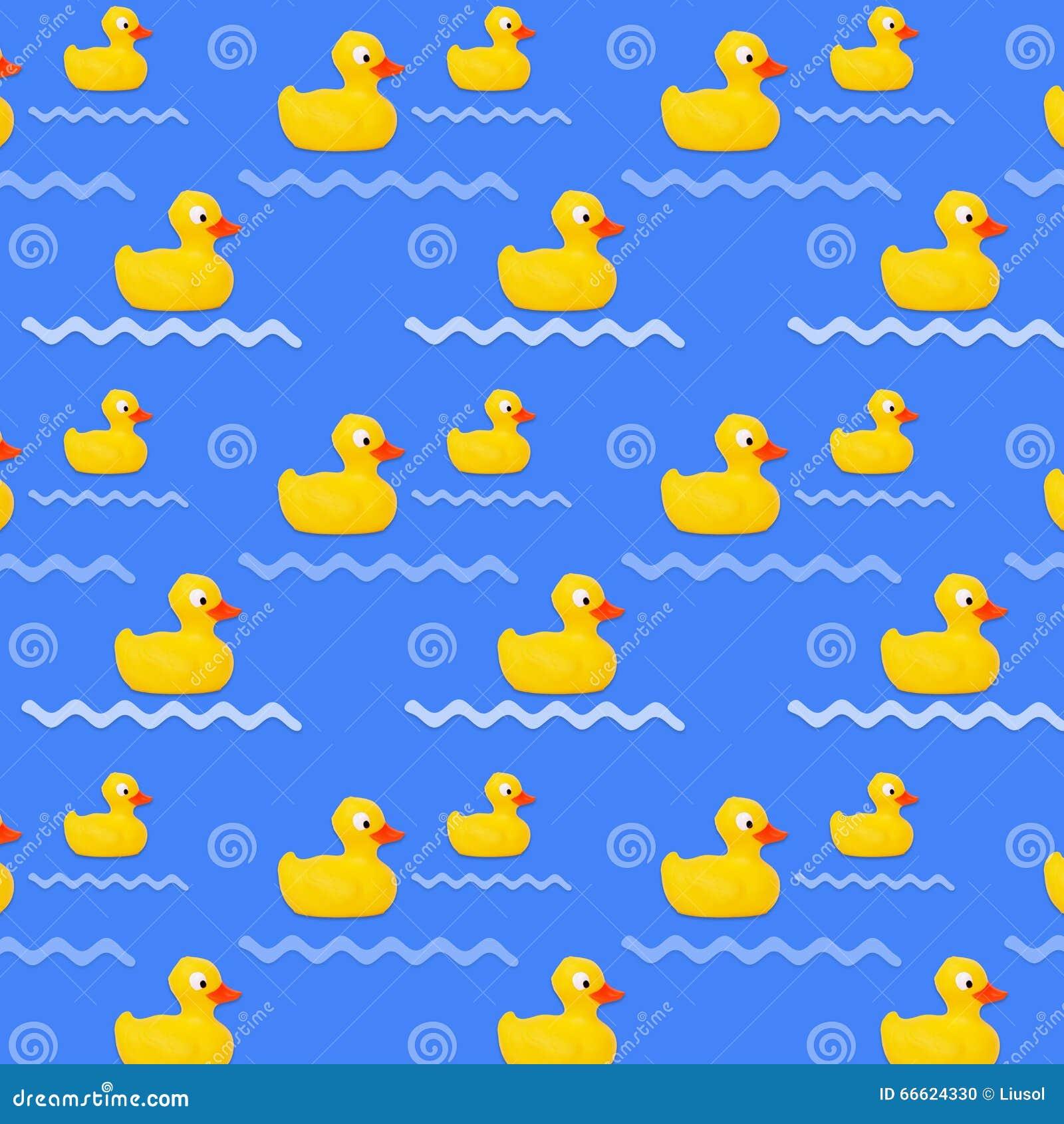 Pattern Baby Bath Toy Rubber Duck Stock Illustration - Illustration ...