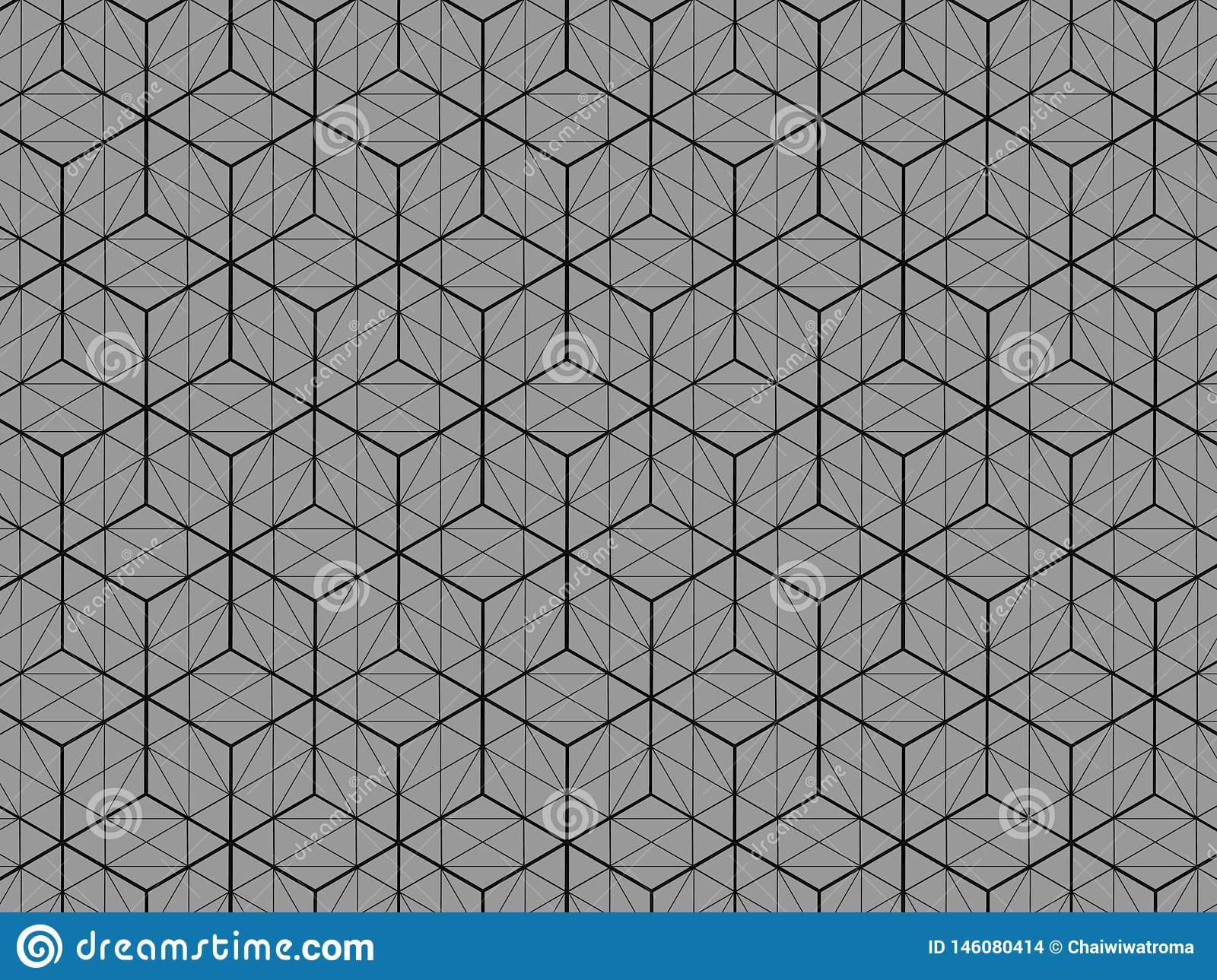 Square box pattern 3D view Is a gray background